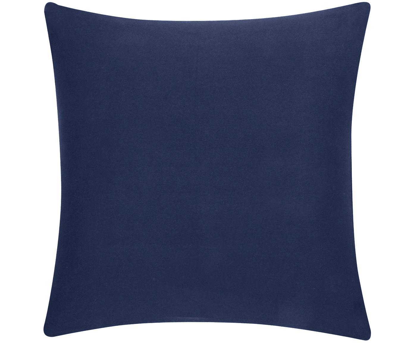 Kussenhoes Mads, 100% katoen, Marineblauw, 40 x 40 cm