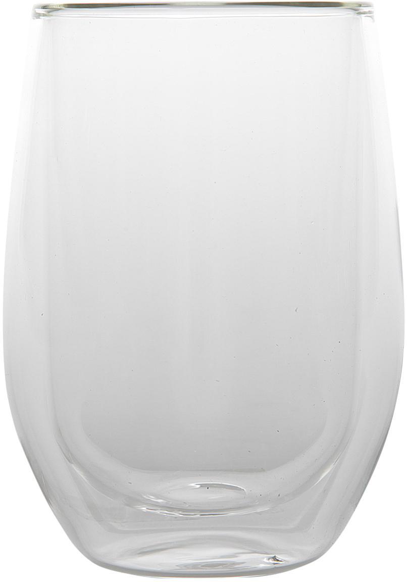 Dubbelwandig theeglas Isolate, 2 stuks, Borosilicaatglas, Transparant, Ø 8 x H 13 cm