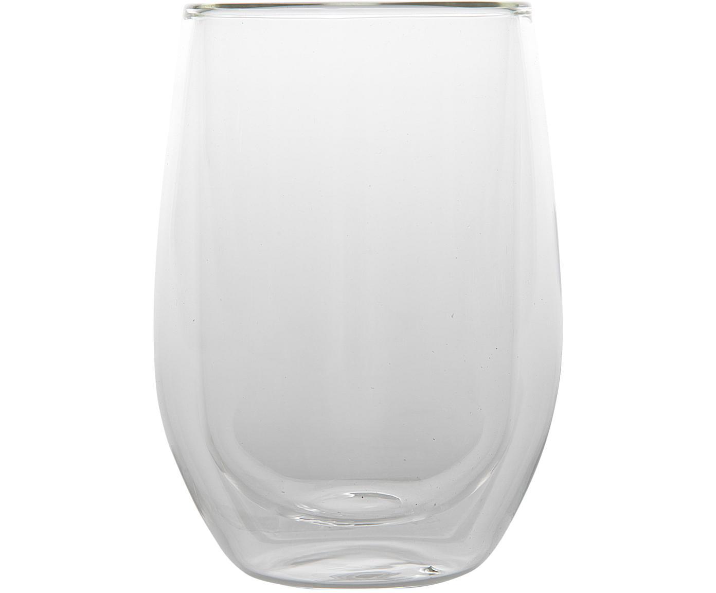Szklanka termiczna z podwójną ścianką Isolate, 2 szt., Szkło borokrzemowe, Transparentny, Ø 8 x W 13 cm