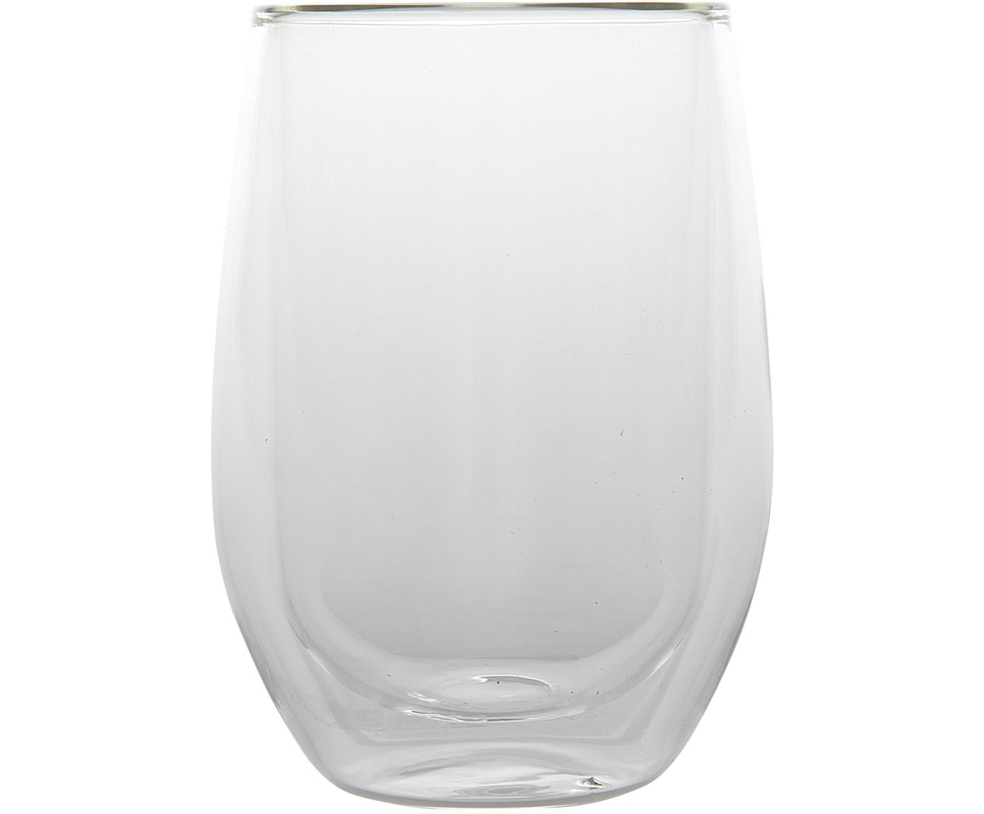 Vasos termos doble cara Isolate, 2uds., Vidrio de borosilicato, Transparente, Ø 8 x Al 13 cm