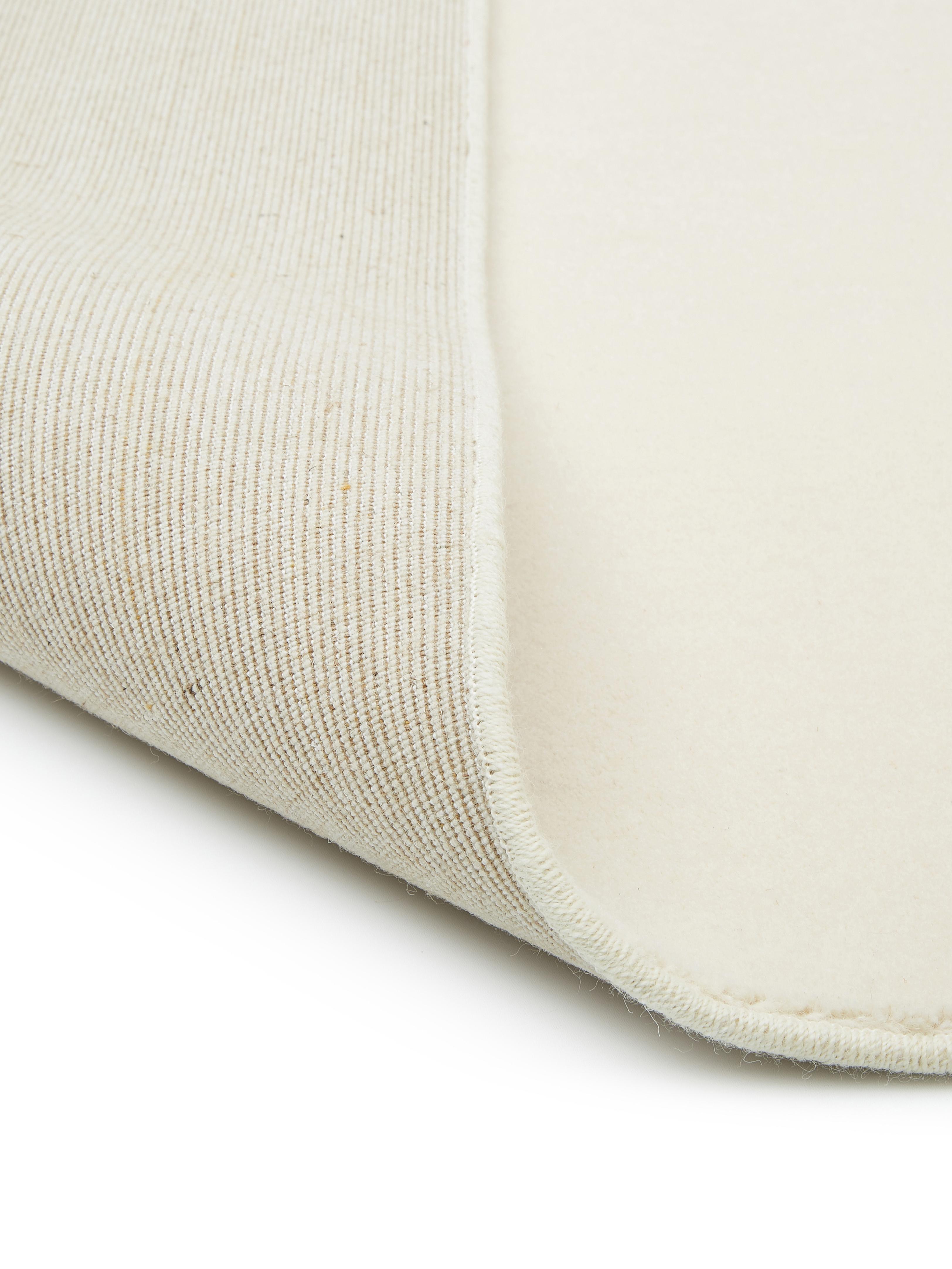 Alfombra de lana Ida, Parte superior: lana, Reverso: 60%yute, 40%poliéster, Beige, An 300 x L 400 cm (Tamaño XL)