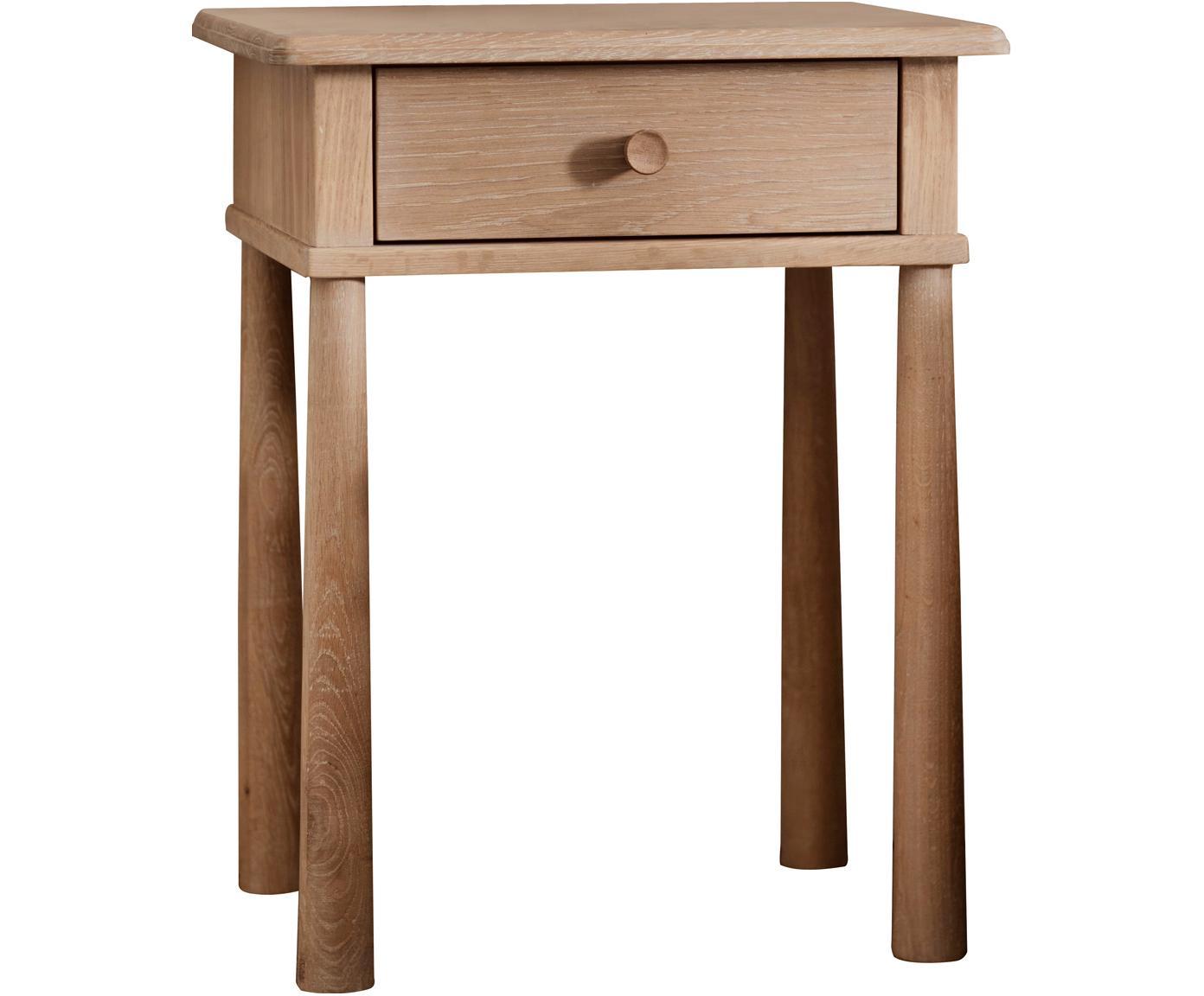 Comodino in legno di quercia Wycombe, Legno di quercia, Legno di quercia, Larg. 50 x Alt. 63 cm