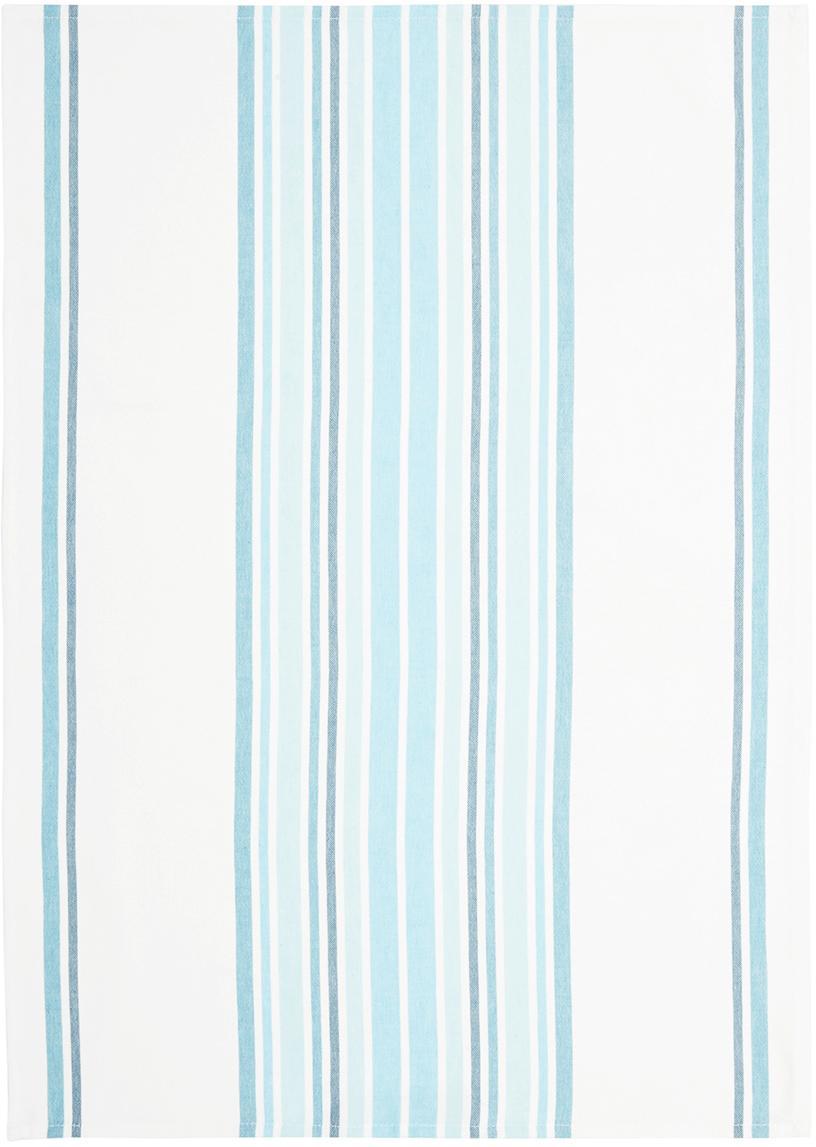 Paños de cocina Katie, 2uds., Algodón, Blanco, azul, An 50 x L 70 cm