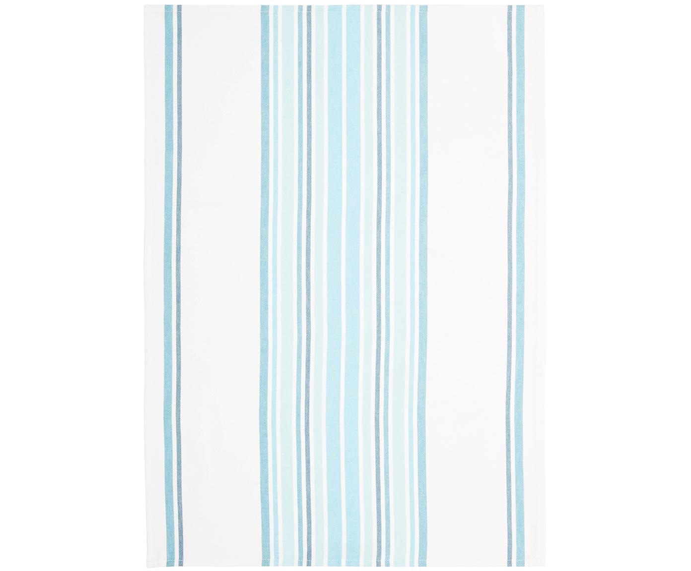 Geschirrtücher Katie, 2 Stück, Baumwolle, Weiß, Blau, 50 x 70 cm