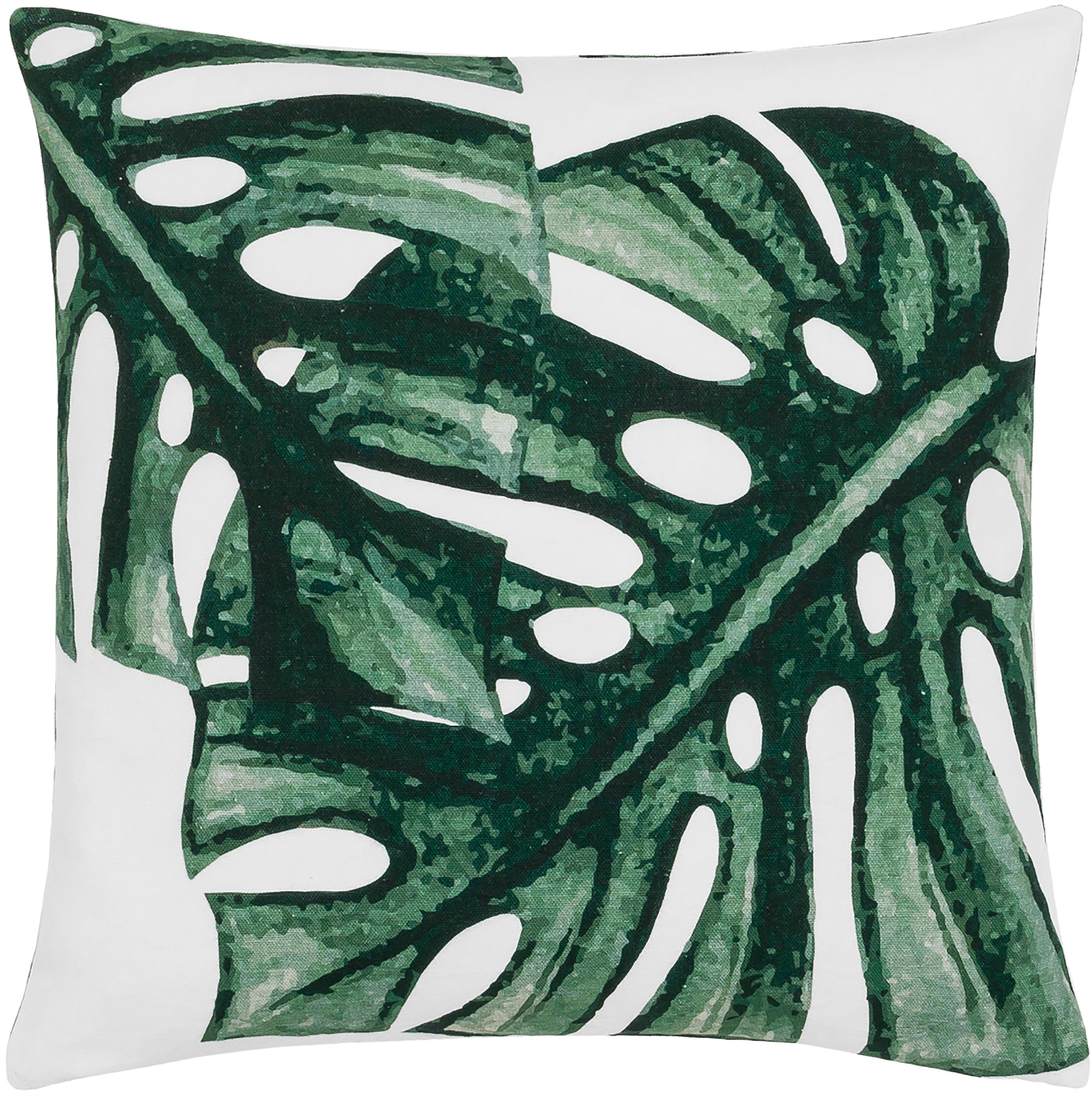 Poszewka na poduszkę Tropics, 100% bawełna, Zielony, biały, S 50 x D 50 cm