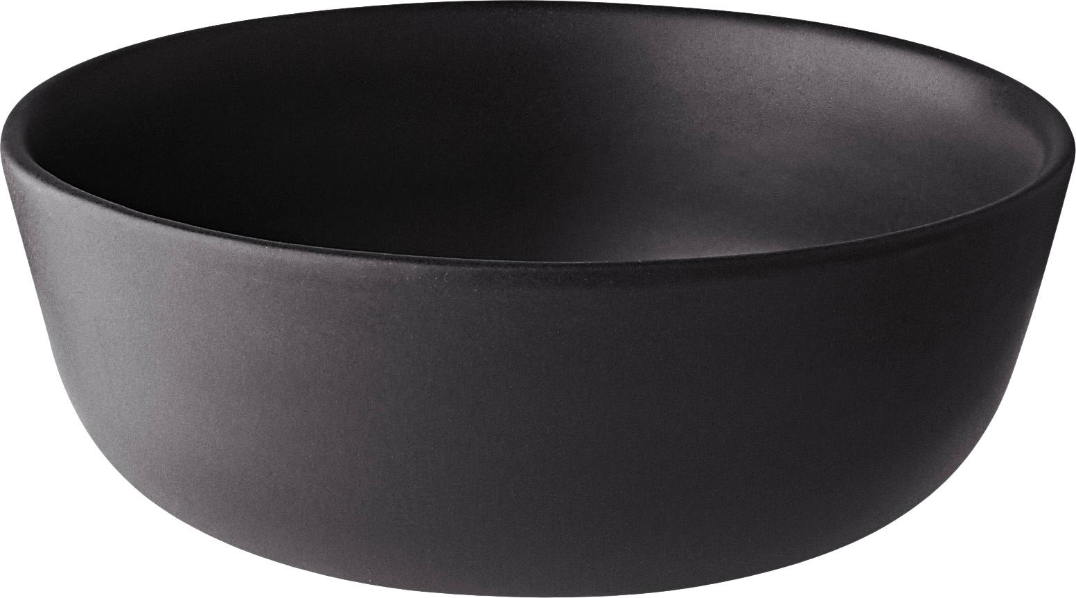 Cuencos Nordic Kitchen, 4 uds., Gres, Negro, 400 ml