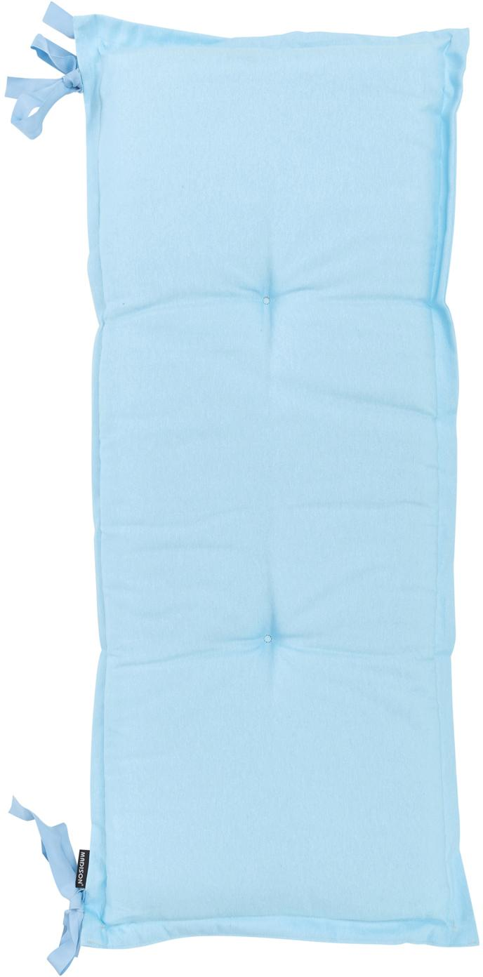 Einfarbige Bankauflage Panama, Bezug: 50% Baumwolle, 45% Polyes, Hellblau, 48 x 150 cm