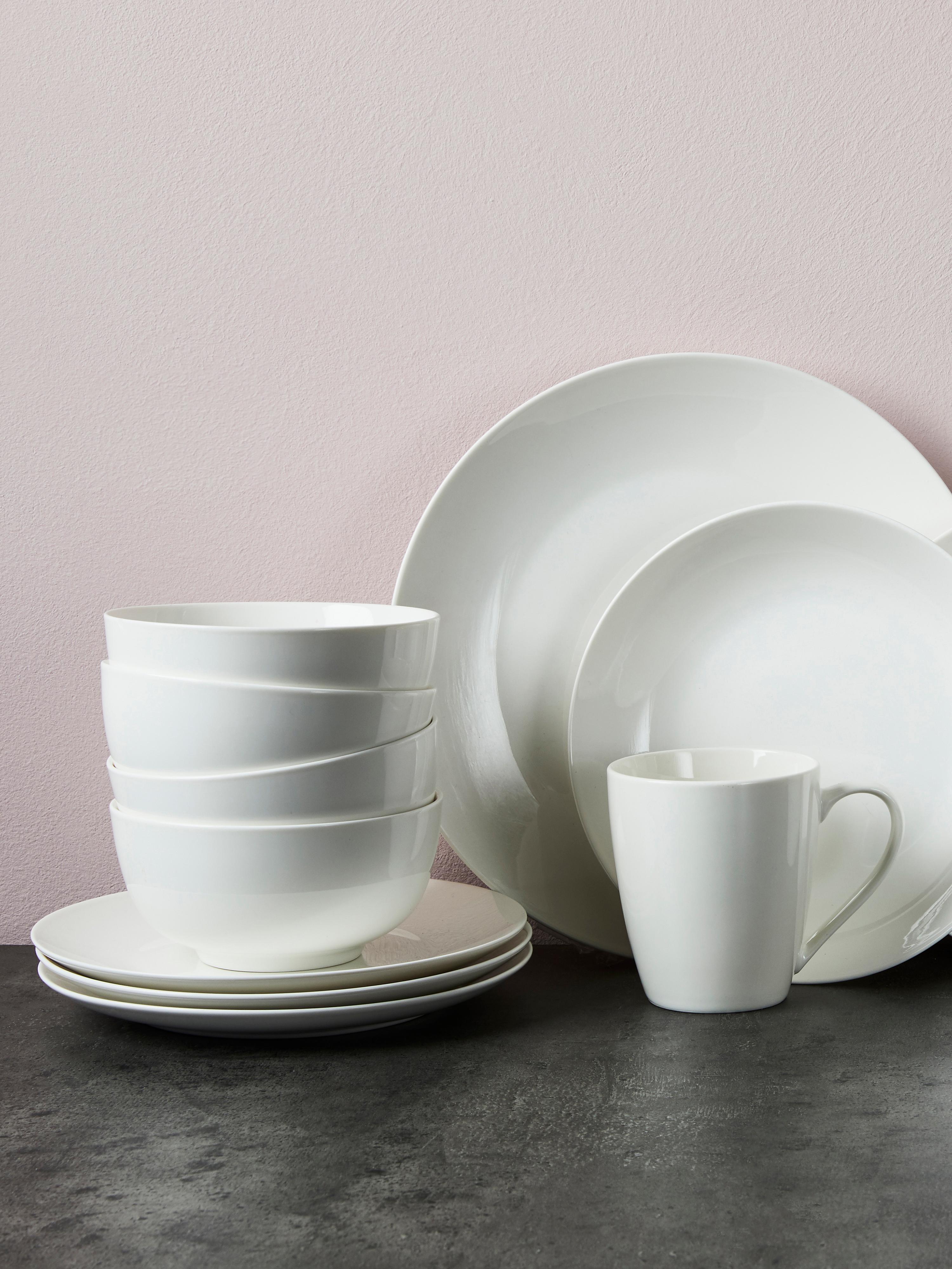 Bols en porcelaine Delight, 2pièces, Blanc