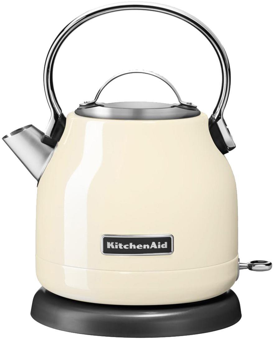 Wasserkocher KitchenAid, Edelstahl, Creme, glänzend, 23 x 26 cm