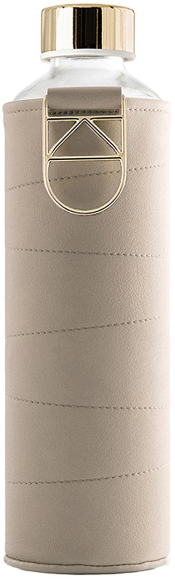 Drinkfles Mismatch, Fles: borosilicaatglas, Deksel: edelstaal, tritan (kunsts, Beige, transparant, Ø 8 x H 26 cm
