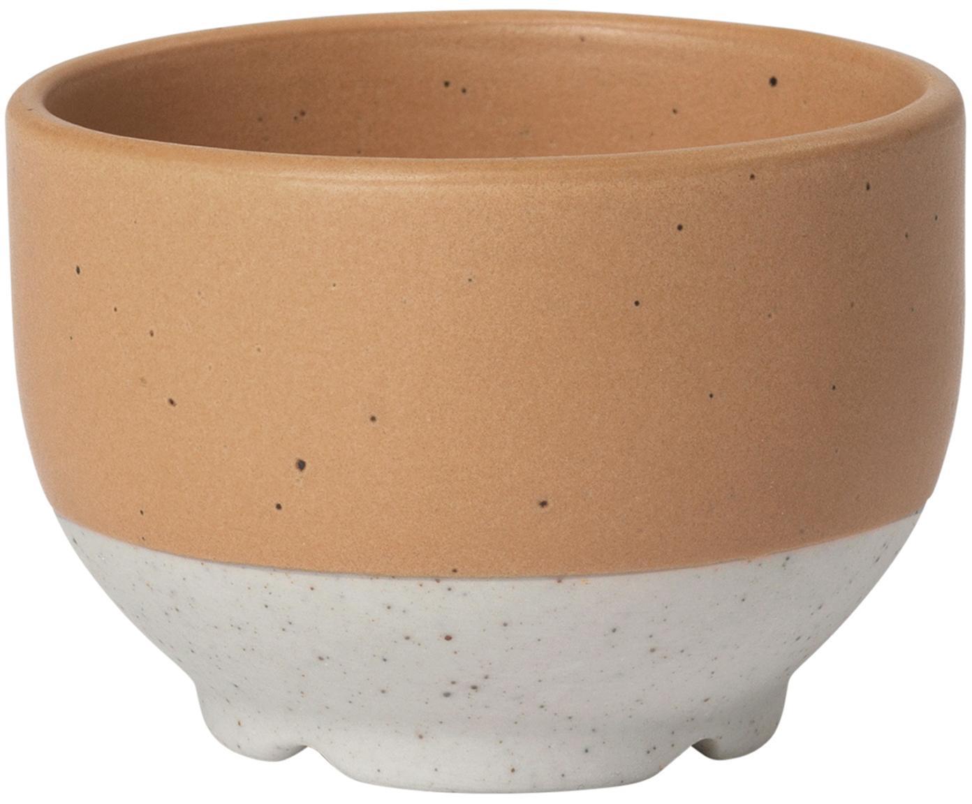 Portauova in terracotta con finitura opaca Eli 4 pz, Gres, Marrone chiaro, beige, Ø 5 x Alt. 4 cm
