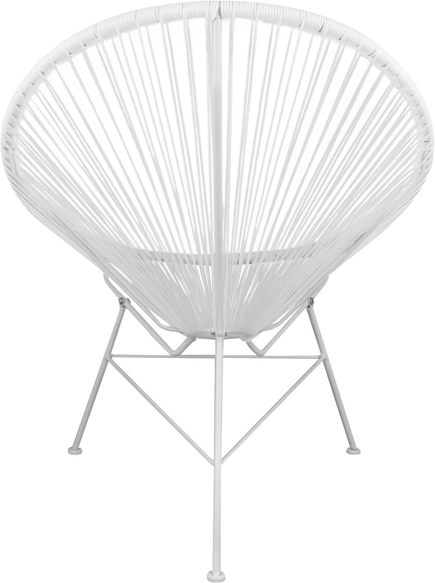 Fotel wypoczynkowy Bahia, Stelaż: metal malowany proszkowo, Tworzywo sztuczne: biały Stelaż: biały, S 81 x G 73 cm