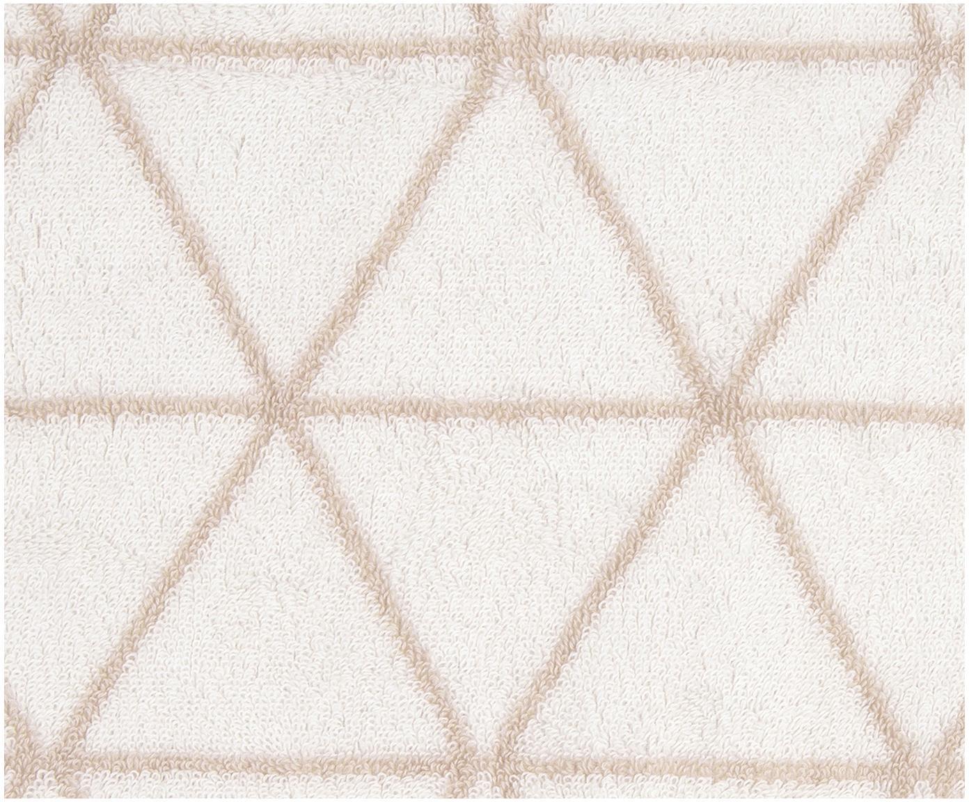 Komplet dwustronnych ręczników Elina, 3 elem., 100% bawełna Średnia gramatura 550 g/m², Odcienie piaskowego, kremowobiały, Różne rozmiary