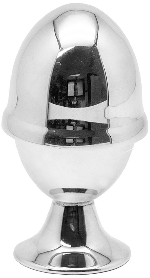Eierbecher mit Deckel Classo, 2-tlg. Set, Messing, versilbert, Silber, Ø 5 x H 10 cm