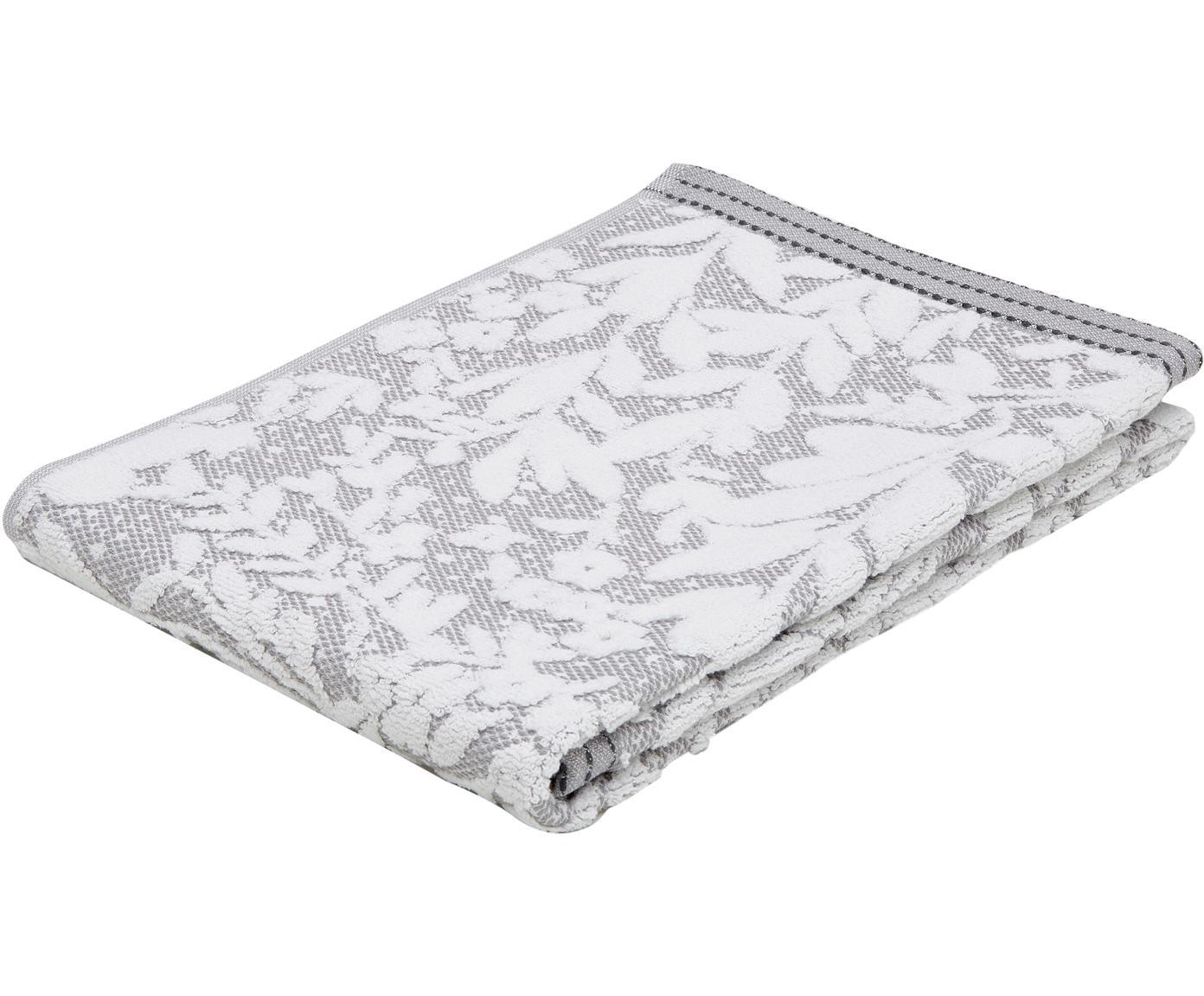 Ręcznik Matiss, Biały, srebrnoszary, Ręcznik do rąk