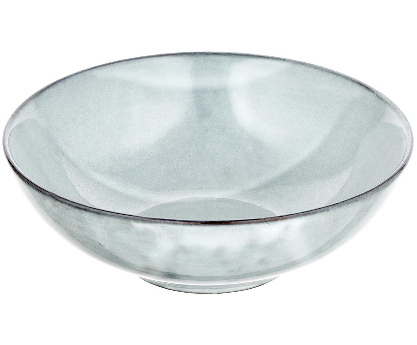 Handgemachte Suppenteller Thalia in Blaugrau, 2 Stück, Steinzeug, Blaugrau, Ø 18 x H 6 cm