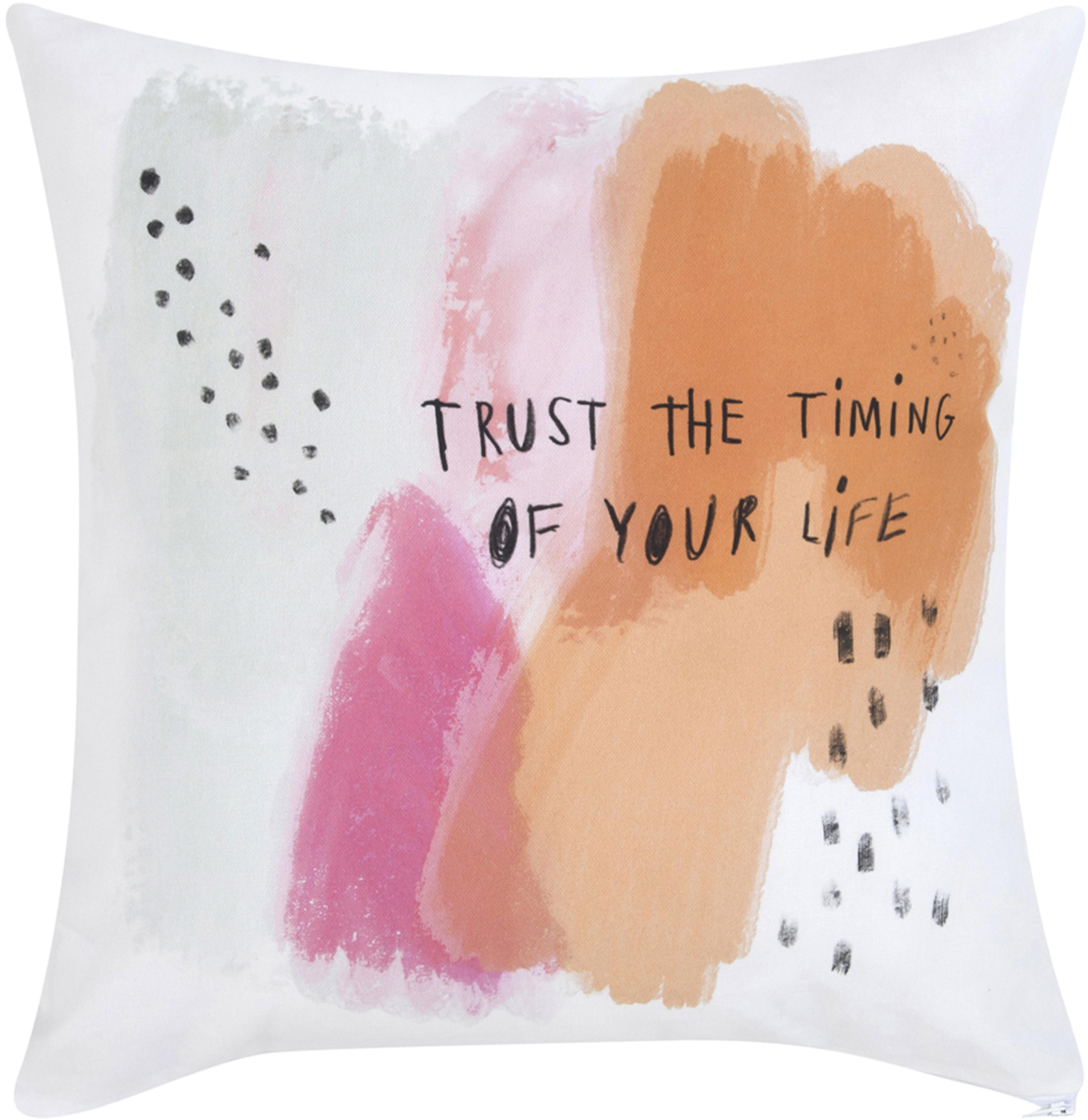 Designer Kissenhülle Trust von Kera Till, 100% Baumwolle, Weiss, Mehrfarbig, 40 x 40 cm