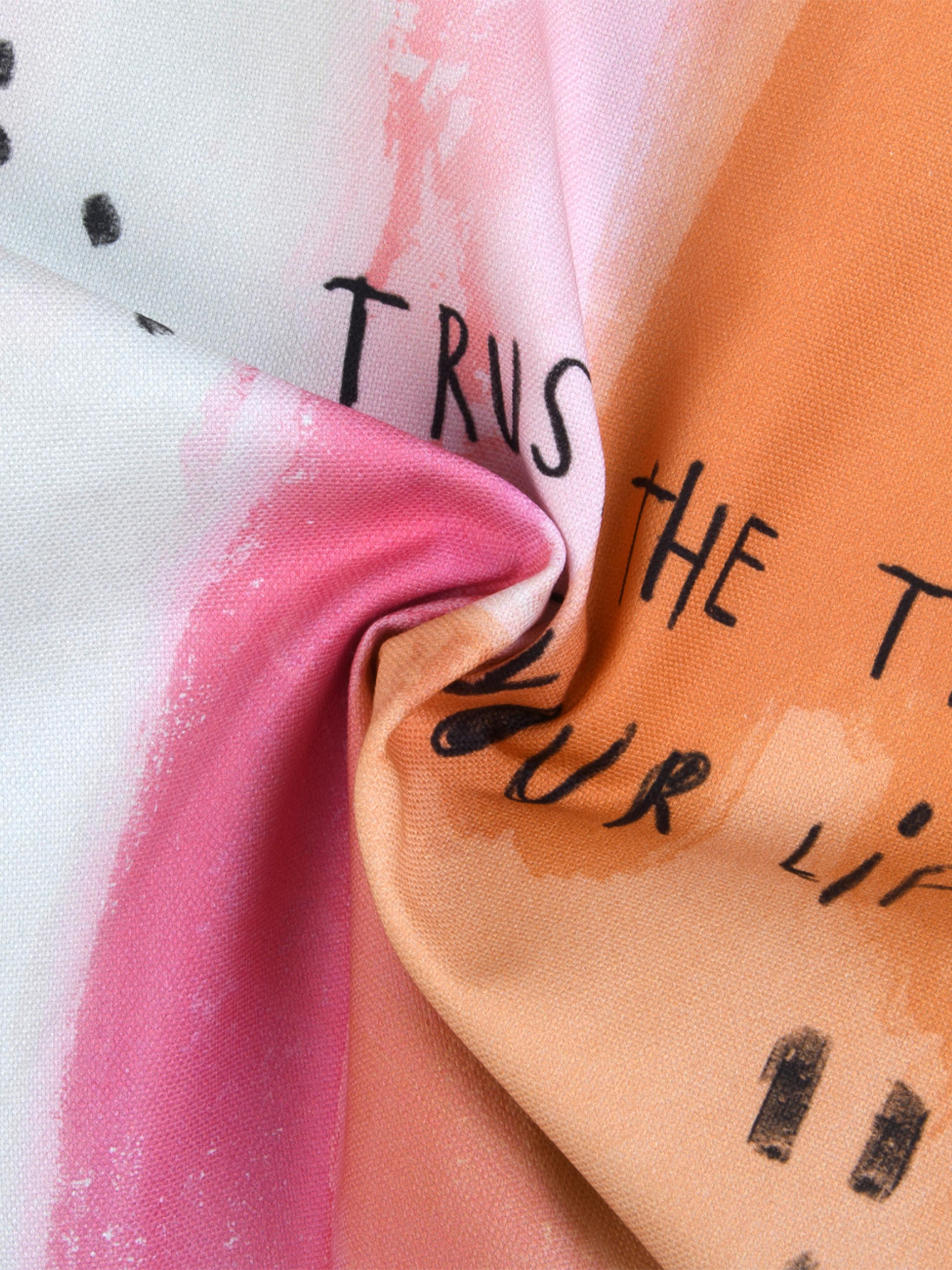 Poťah na vankúš od Kera Till Trust, Biela, viacfarebná