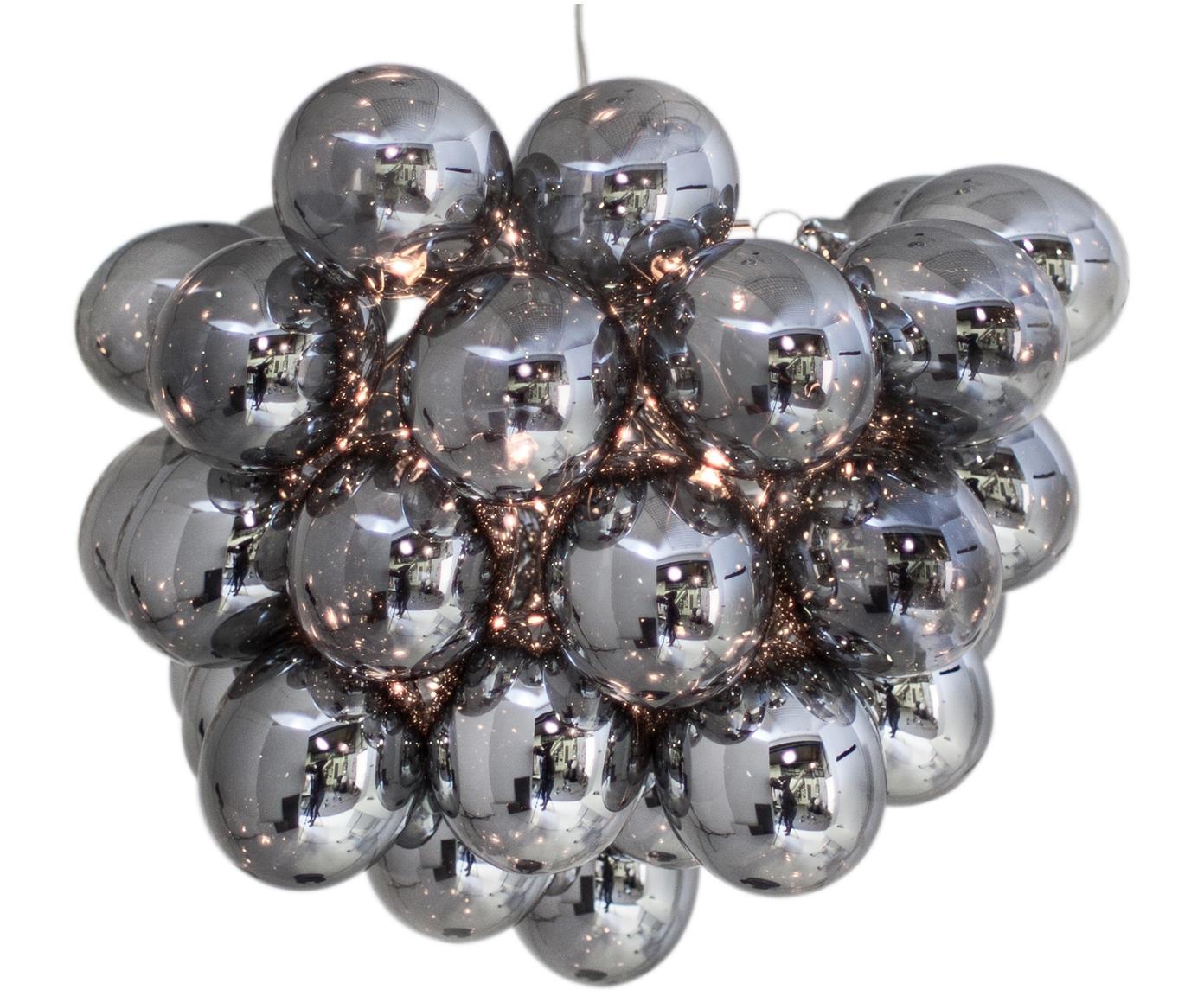 Hanglamp met glazen bollen Gross, Chroomkleurig, Ø 50 x H 50 cm