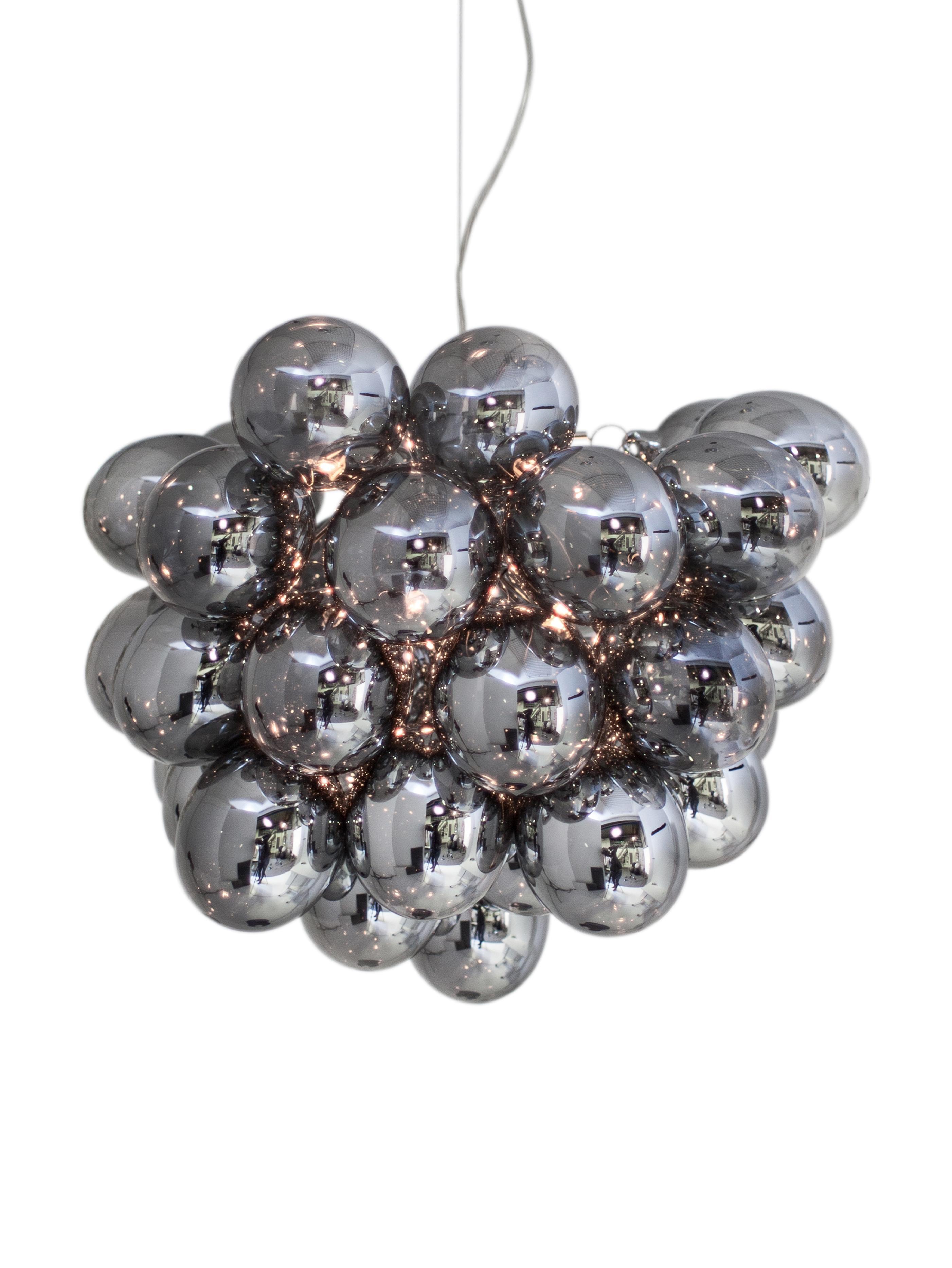 Lampada a sospensione con sfere di vetro Gross, Cromo, Ø 50 x Alt. 50 cm