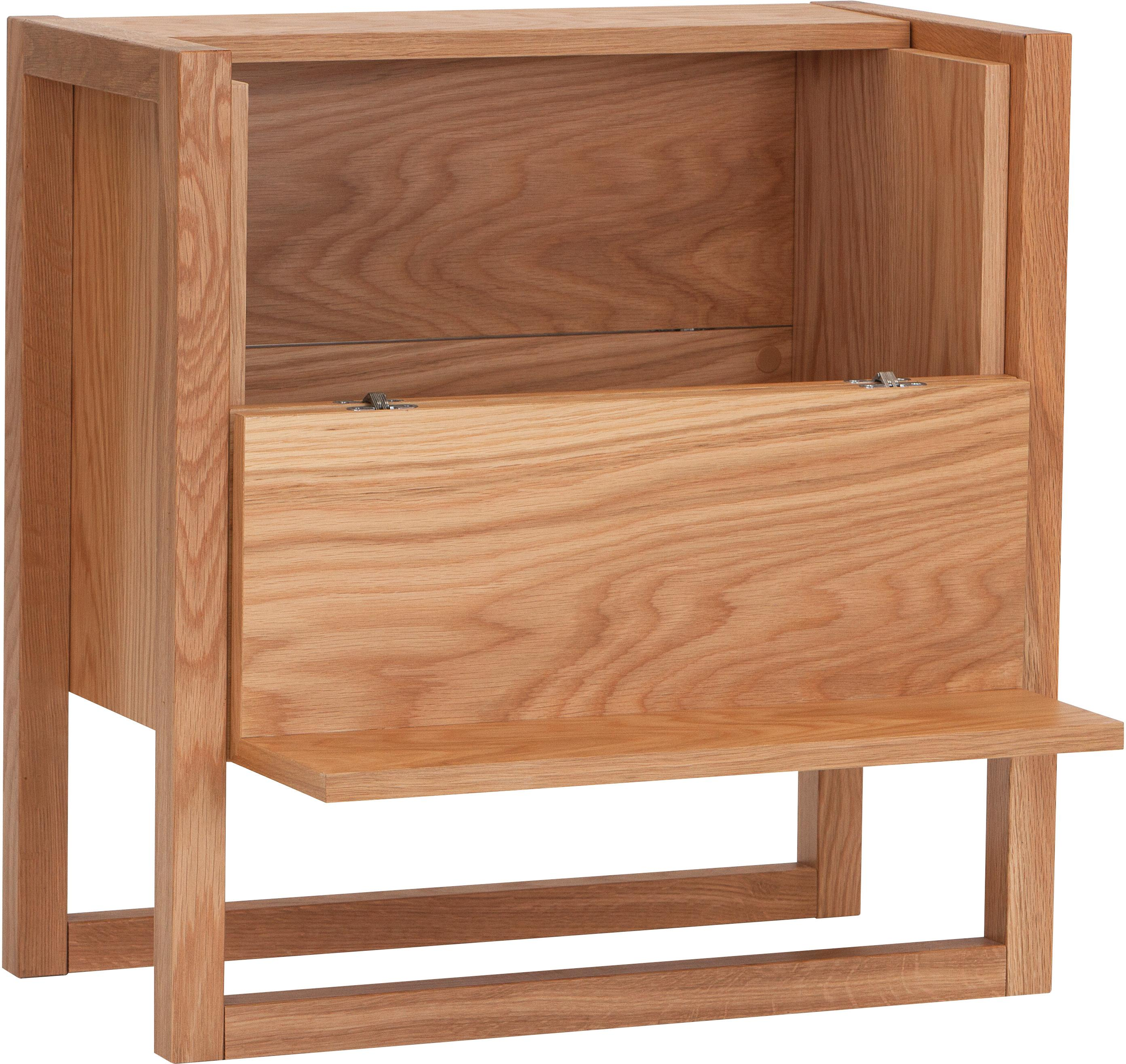 Mueble bar NewEst, Estructura: tablero de fibras de dens, Roble, An 59 x Al 60 cm