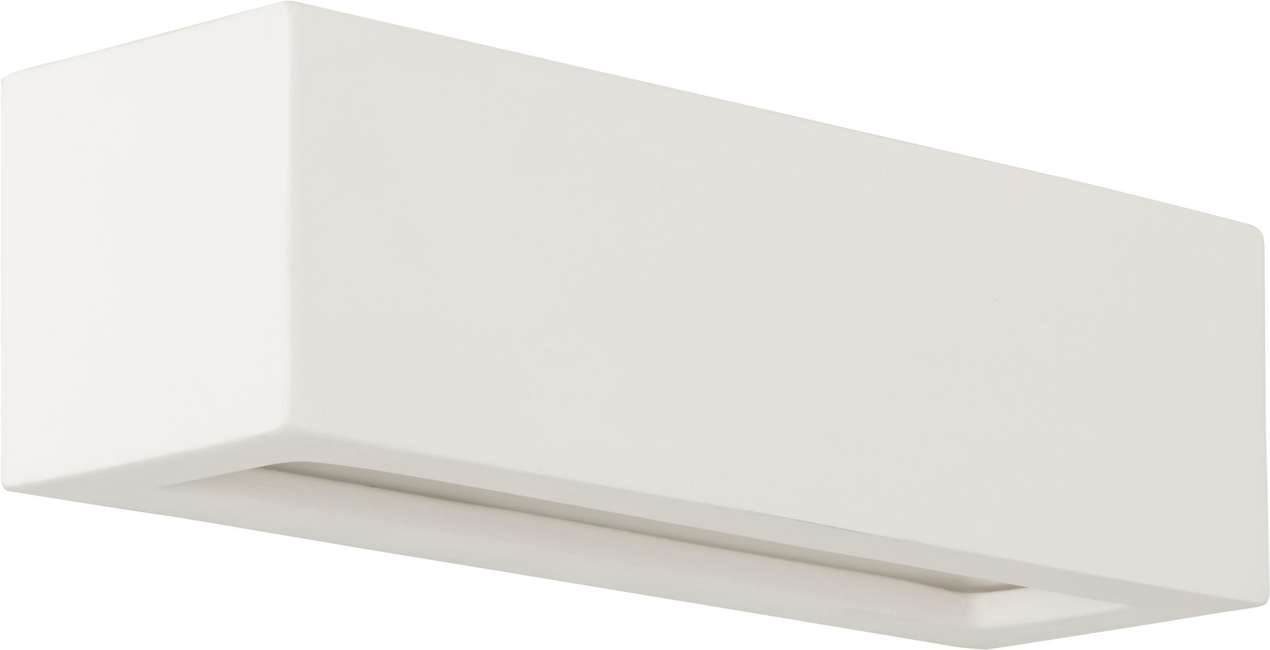 Aplique de cerámica Madrid, Blanco, An 32 x Al 9 cm
