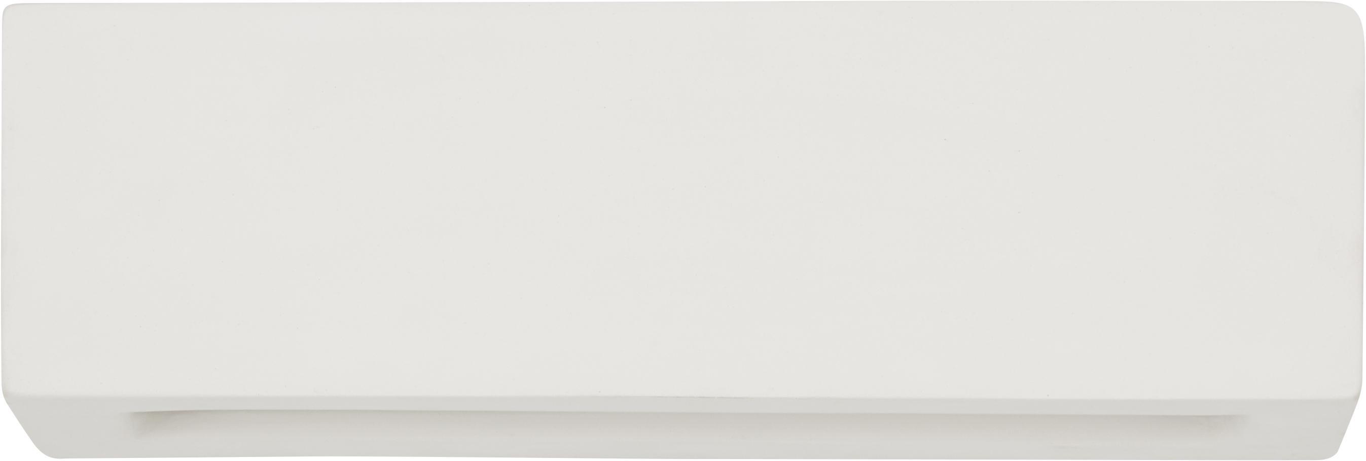 Keramik-Wandleuchte Madrid, Cremeweiß, 32 x 9 cm