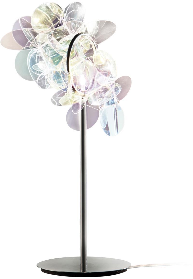 Lampada da tavolo di design Mille Bolle, Paralume: tecnopolimero Cristalflex, Base della lampada: acciaio inossidabile, Multicolore, Larg. 22 x Alt. 41 cm