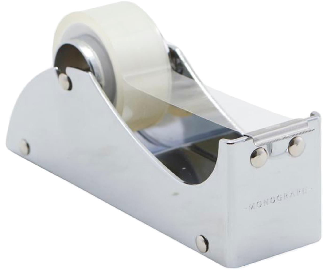 Dispenser per nastro adesivo Siba, Metallo, Argentato, Larg. 13 x Alt. 5 cm