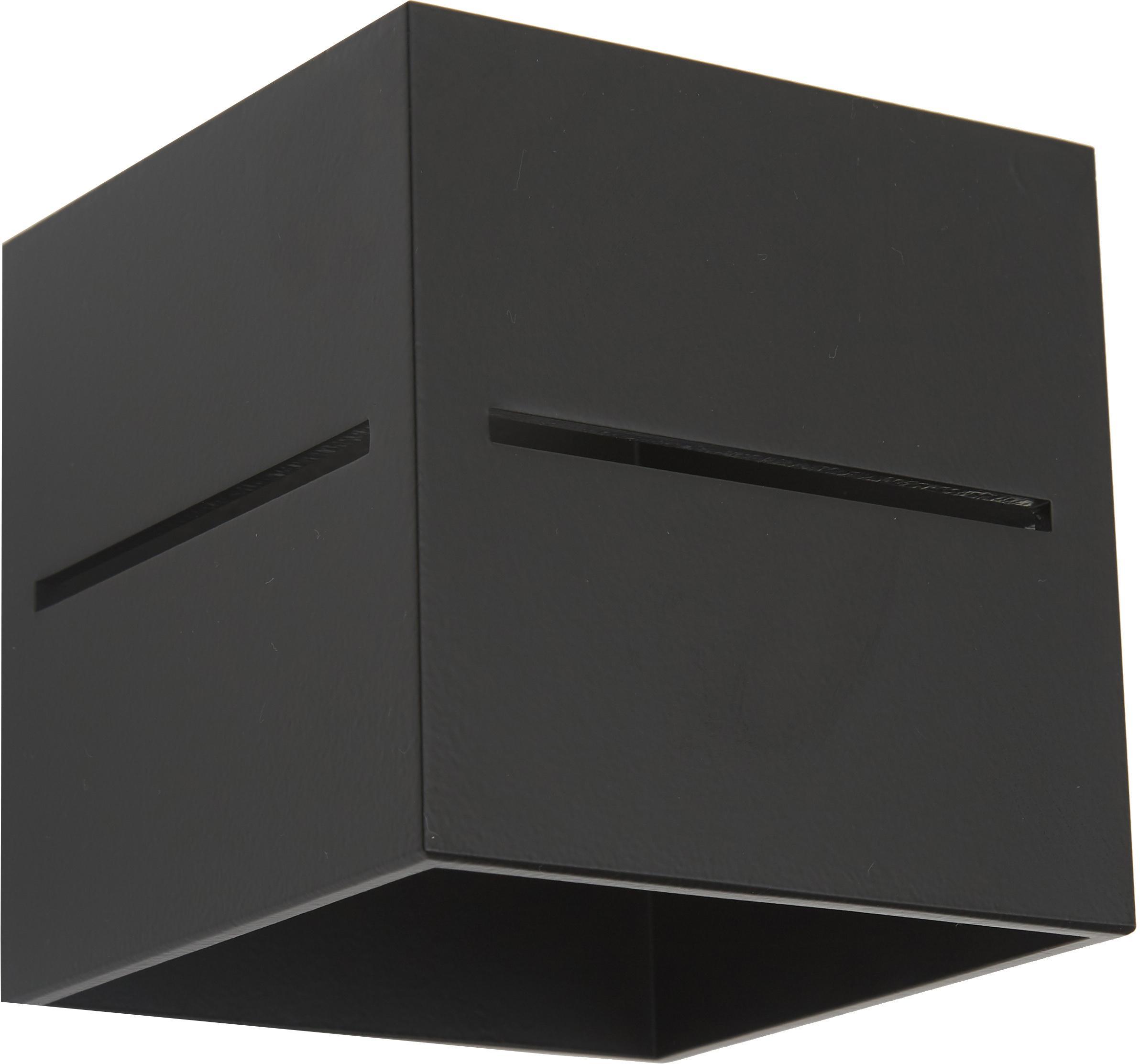 Kinkiet Lorum, Aluminium, Czarny, S 10 x W 10 cm