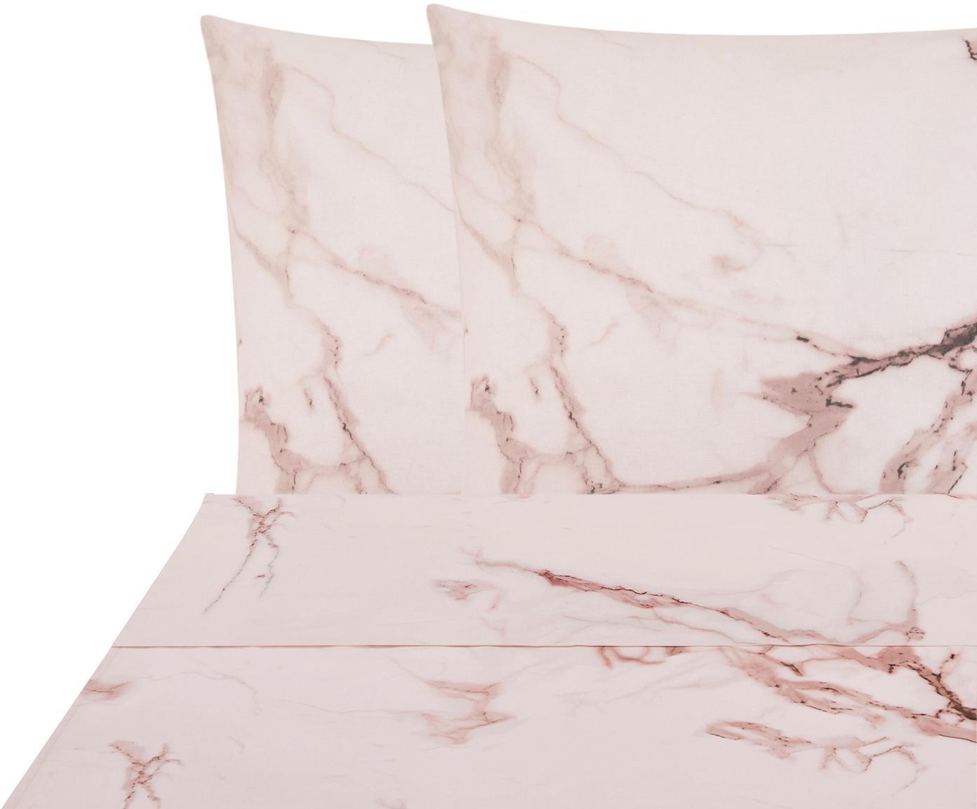 Parure letto Renforcé reversibile Malin, Tessuto: Renforcé, Rosa, 240 x 300 cm