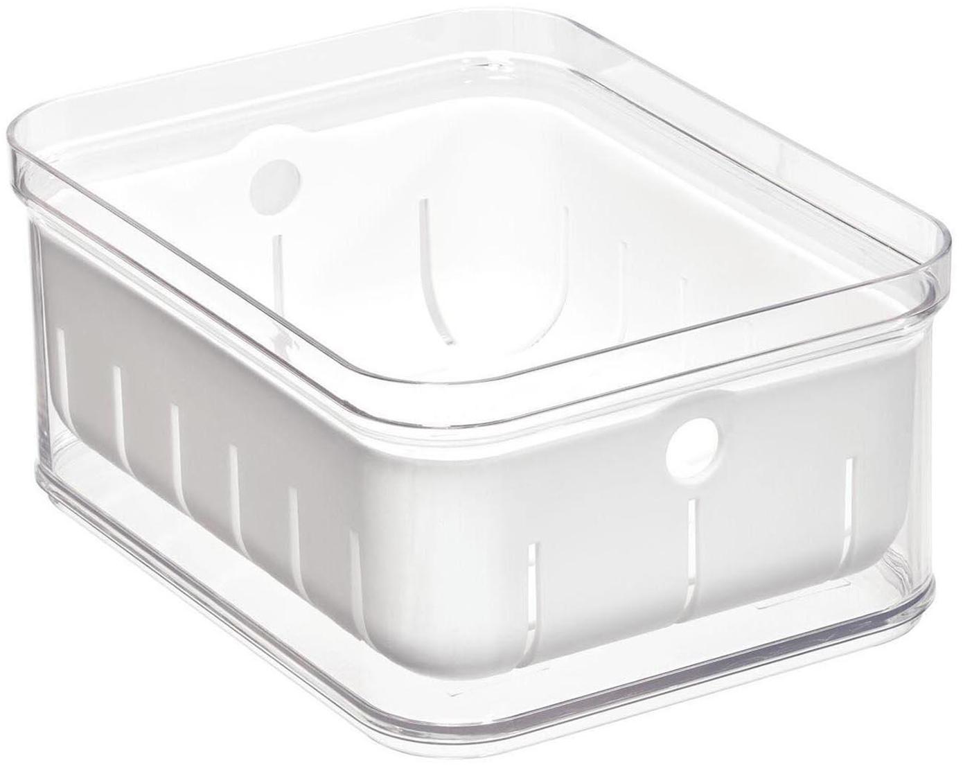 Caja de almacenamiento Crisp, Plástico, Transparente, An 16 x F 21 cm