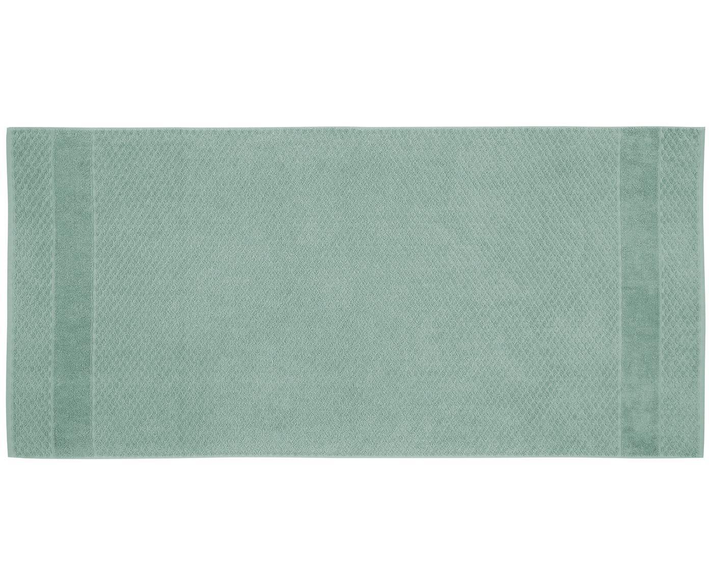 Handtuch-Set Katharina mit Wabenmuster, 3-tlg., Mint, Verschiedene Grössen