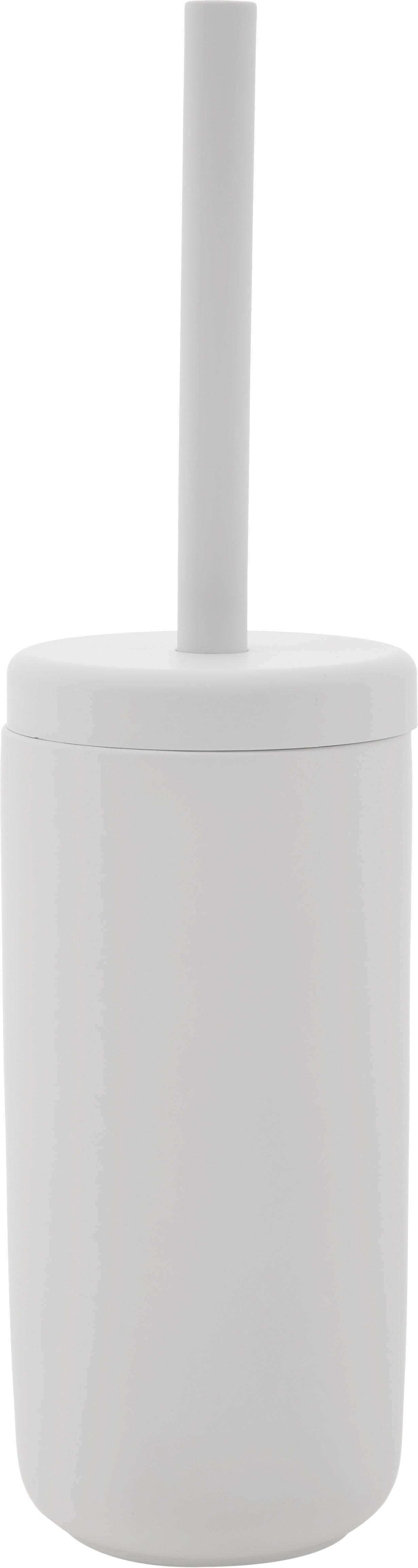 Scopino con contenitore in terracotta Omega, Contenitore: terracotta rivestita con , Manico: materiale sintetico, Grigio chiaro, Ø 10 x Alt. 39 cm