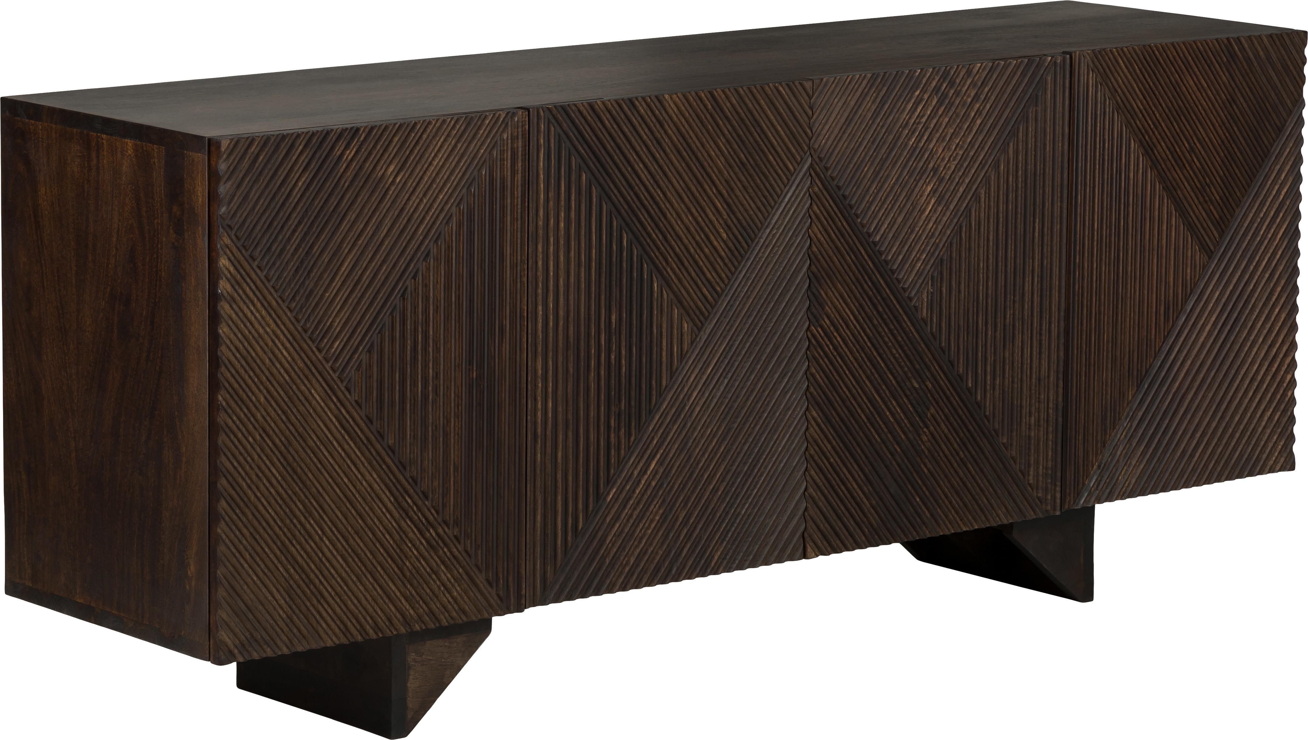 Sideboard Louis aus massivem Mangoholz, Massives Mangoholz, lackiert, Mangoholz, lackiert, 177 x 75 cm
