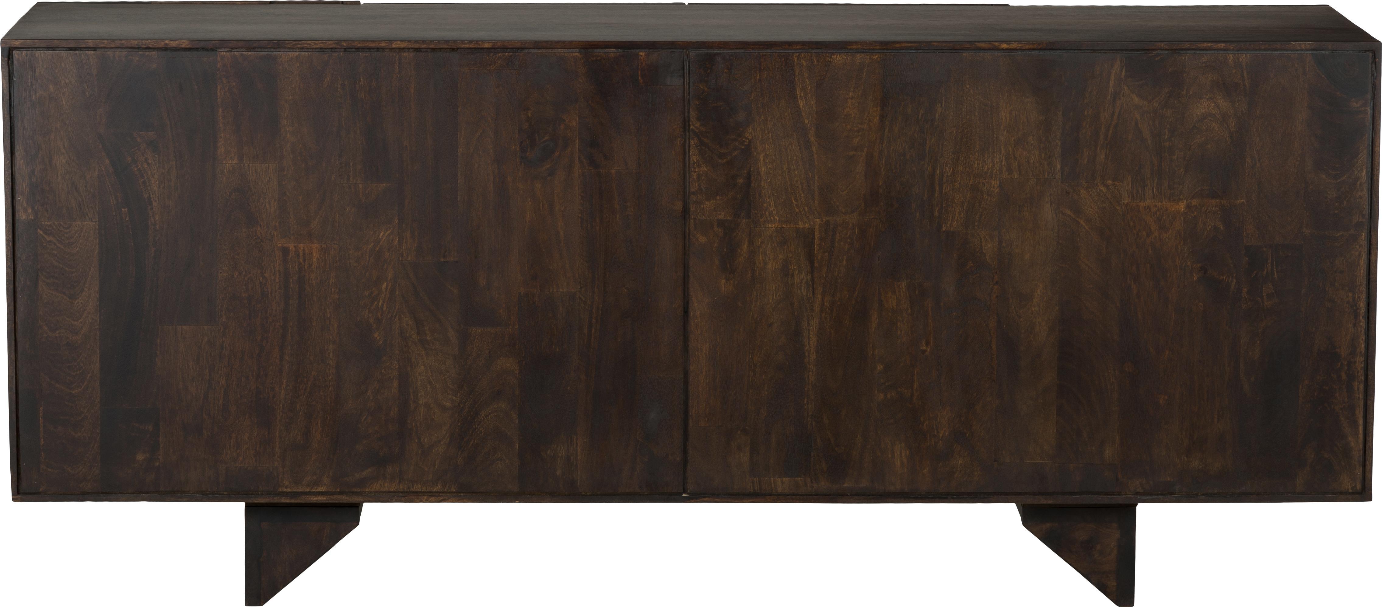 Skříňka z masivního mangového dřeva Louis, Lakované mangové dřevo