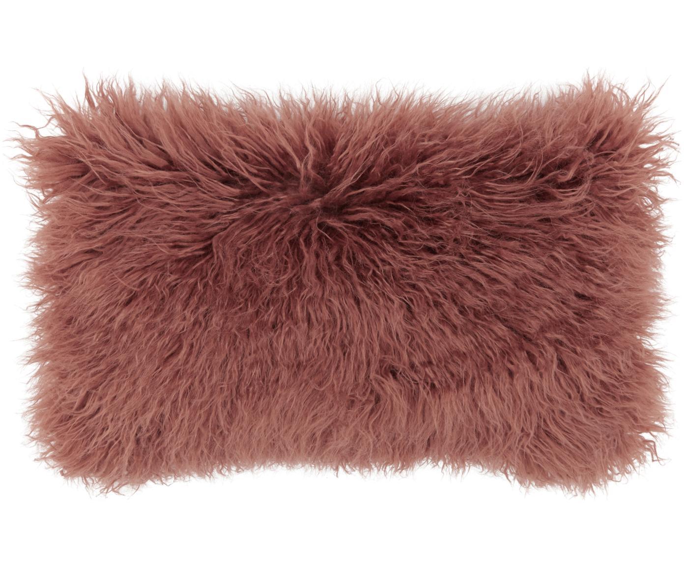 Poszewka na poduszkę ze sztucznego futra Morten, Terakota, S 30 x D 50 cm