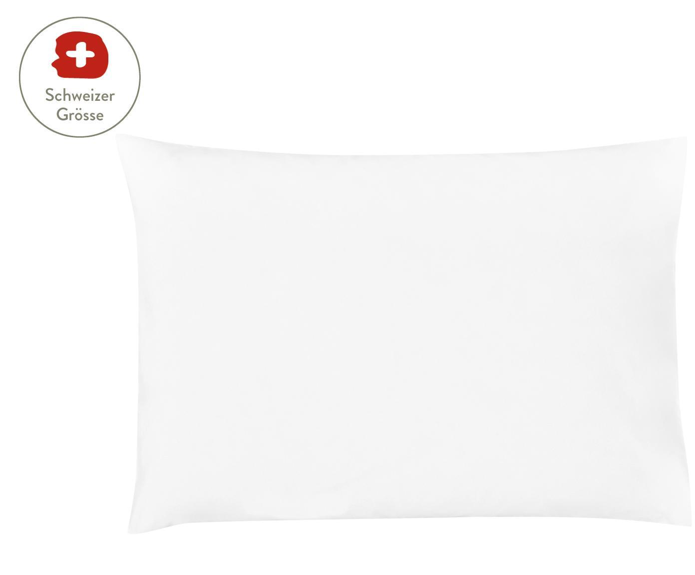 Baumwollperkal-Kissenbezug Elsie in Weiss, Webart: Perkal Fadendichte 200 TC, Weiss, 50 x 70 cm