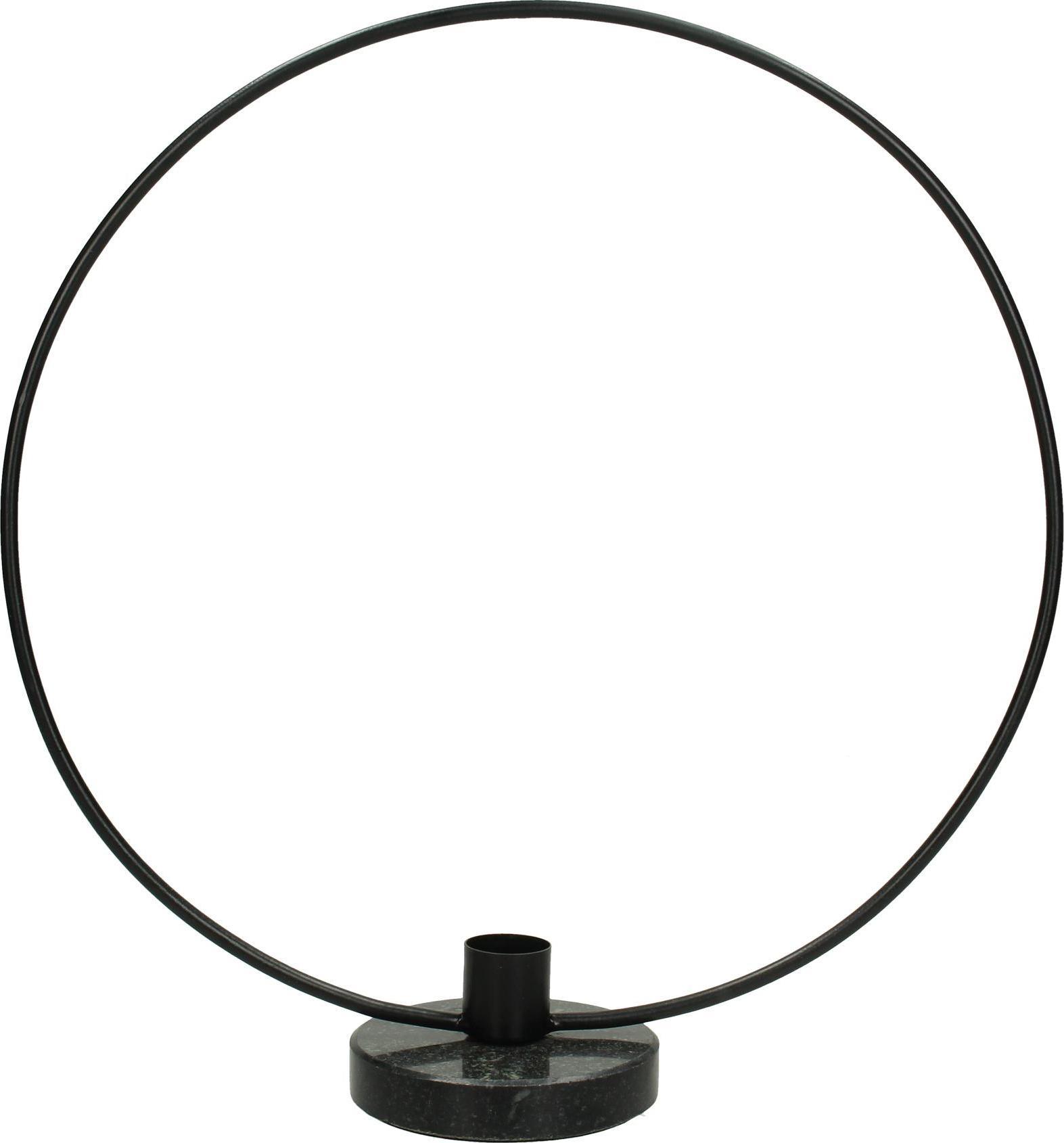Candelabro Wrights, Metallo rivestito, Nero, Larg. 28 x Alt. 30 cm