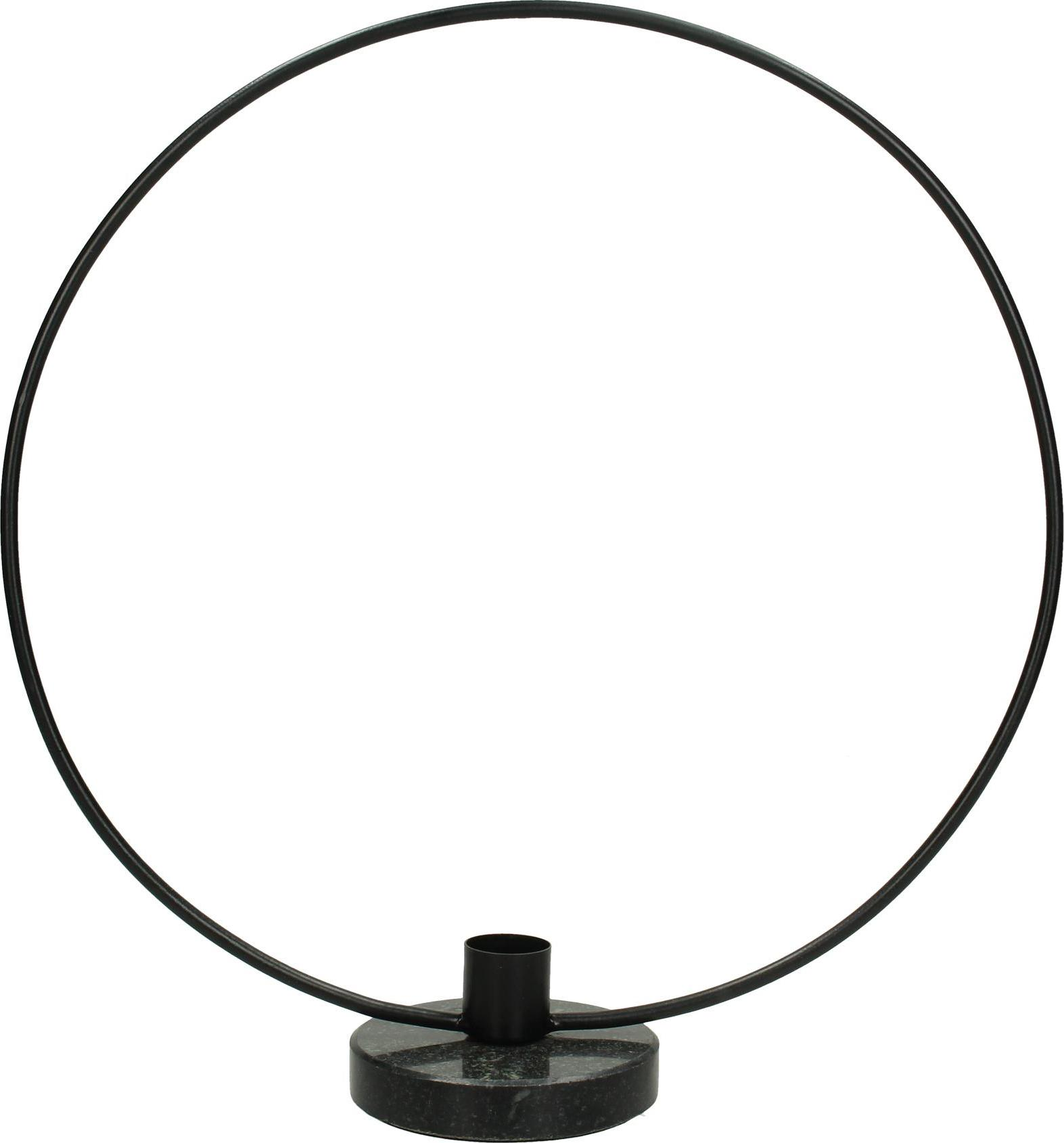 Kandelaar Wrights, Gecoat metaal, Zwart, 28 x 30 cm