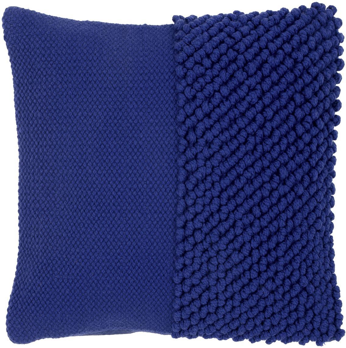 Kissenhülle Andi mit strukturierter Oberfläche, 80% Acryl, 20% Baumwolle, Blau, 40 x 40 cm