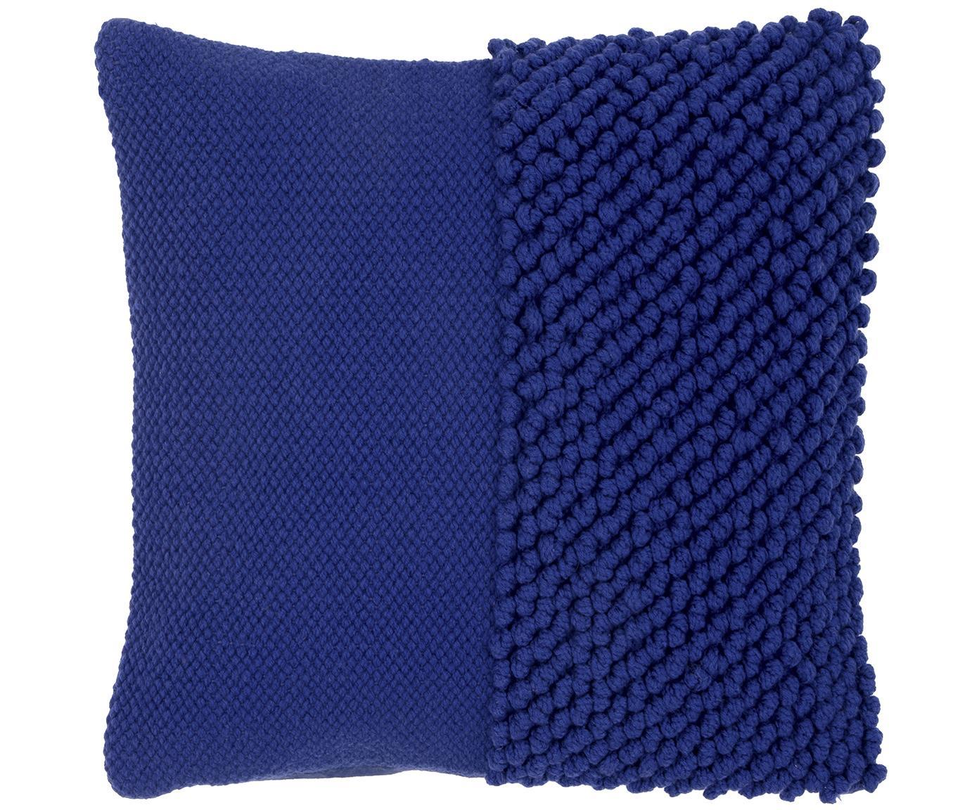 Poszewka na poduszkę Andi, 90% akryl, 10% bawełna, Niebieski, S 40 x D 40 cm