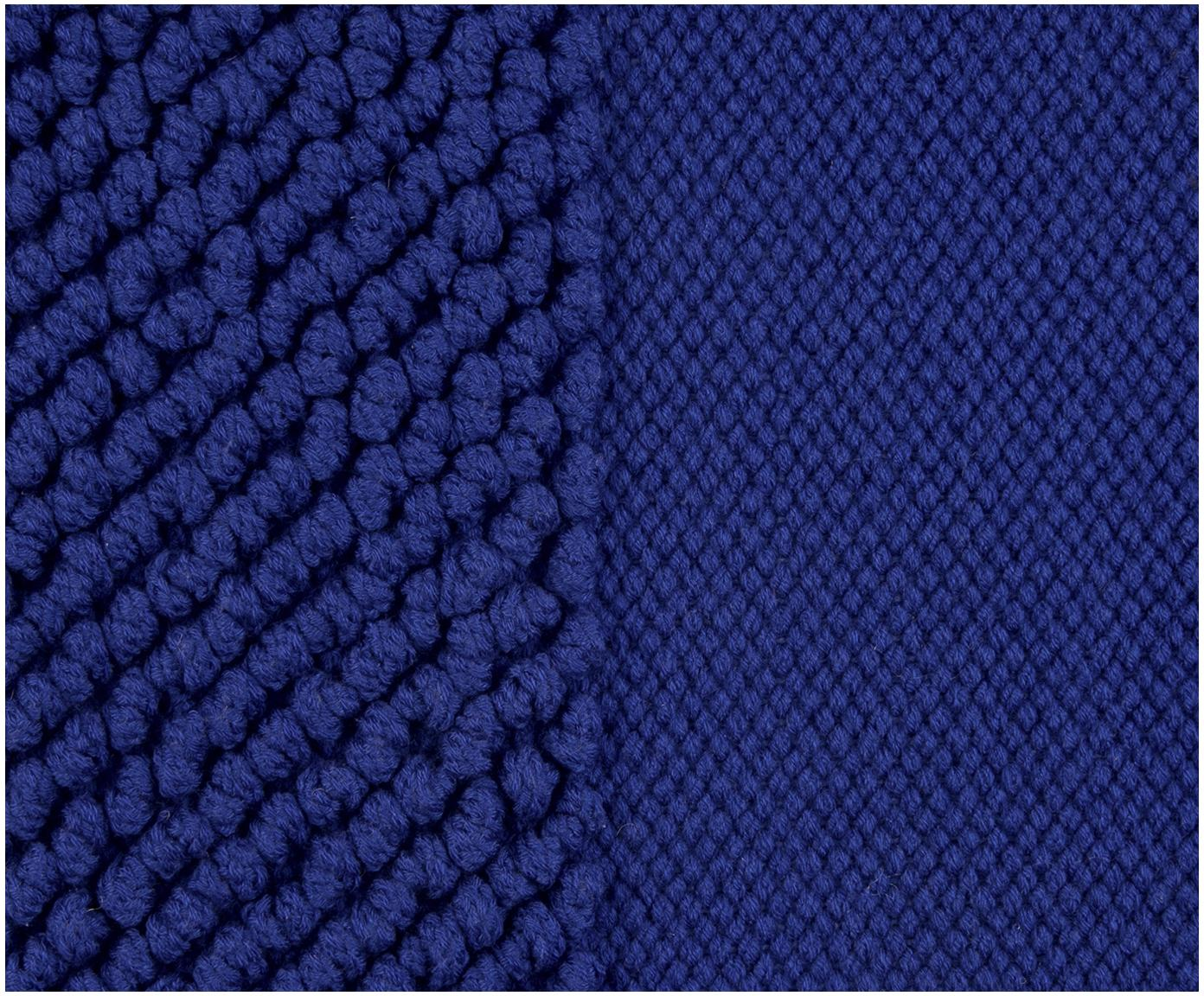 Kussenhoes Andi, 90% acryl, 10% katoen, Blauw, 40 x 40 cm