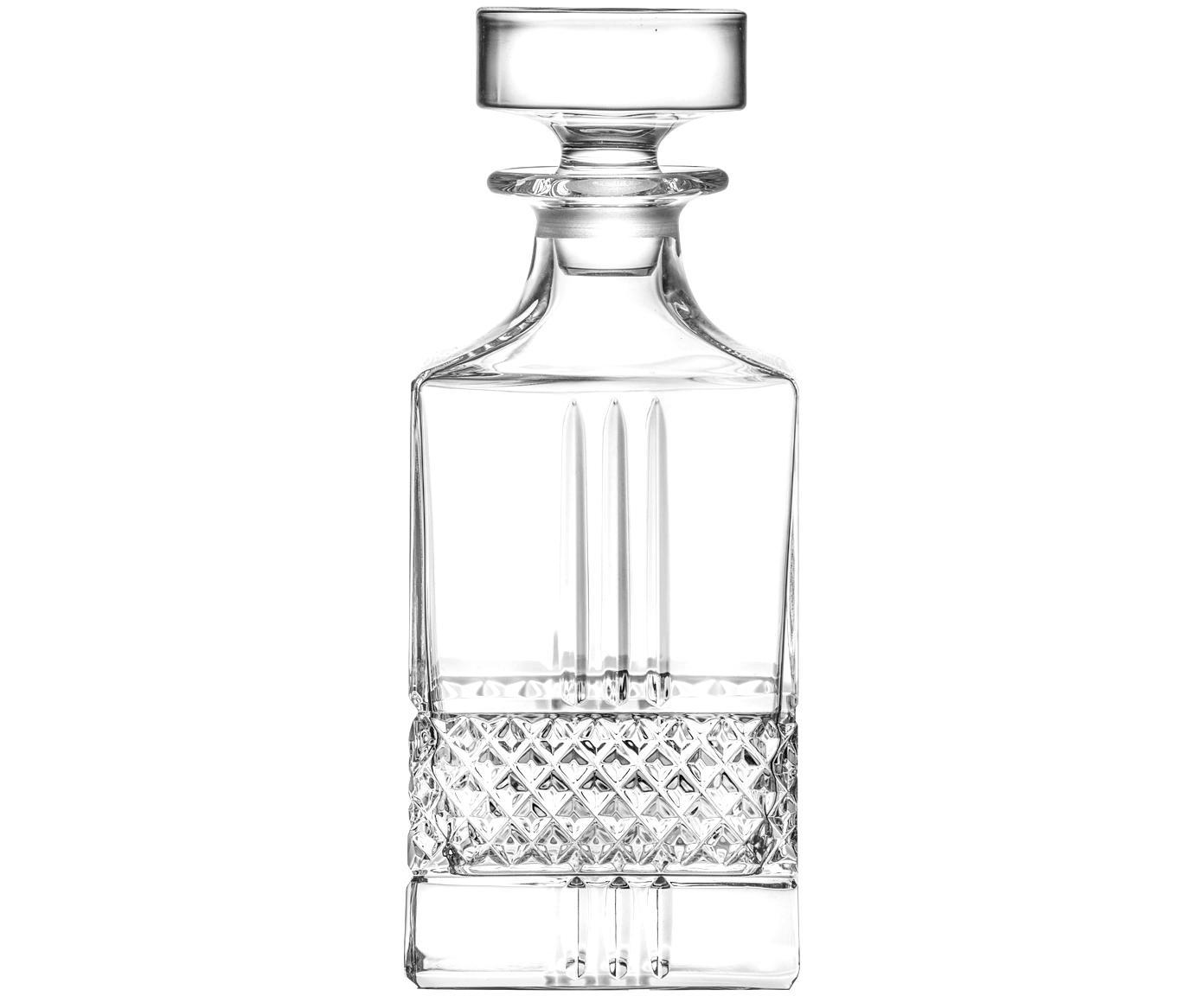 Kristall-Dekanter Calicavino, Kristallglas, Transparent, H 19 cm