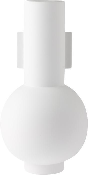 Große Keramik-Vase Mask, Keramik, Weiß, Ø 21 x H 43 cm