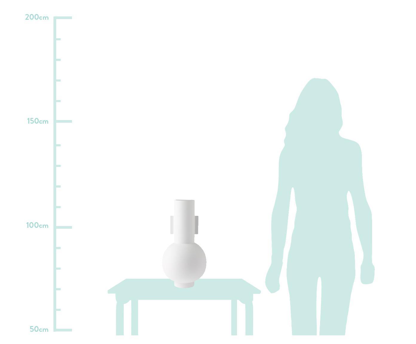 Vaso in ceramica Mask, Ceramica, Bianco, Ø 21 x Alt. 43 cm