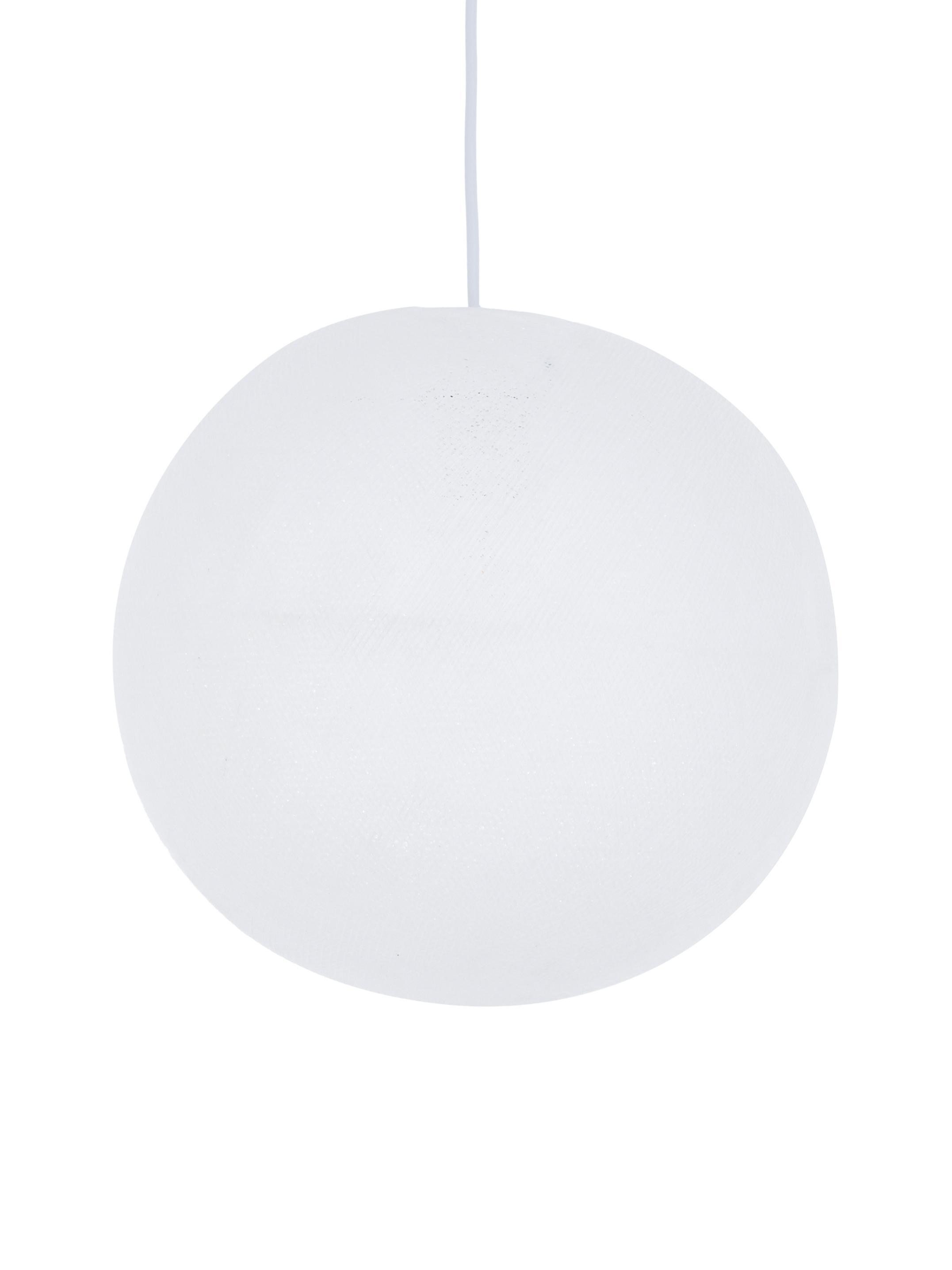 DIY Pendelleuchte Colorain, Lampions: Polyester, Weiß, Ø 31 x H 135 cm