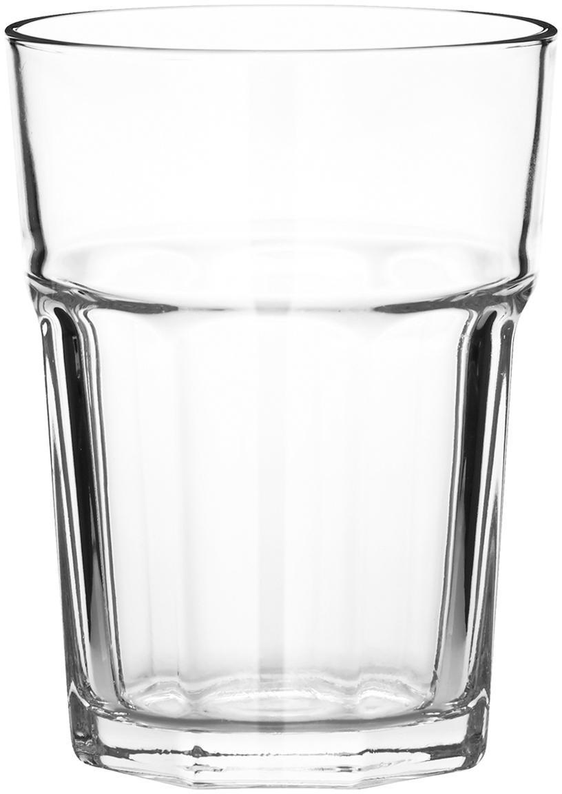 Vasos apilables Gibraltar, 6uds., Vidrio, Transparente, Ø 9 x Al 10 cm