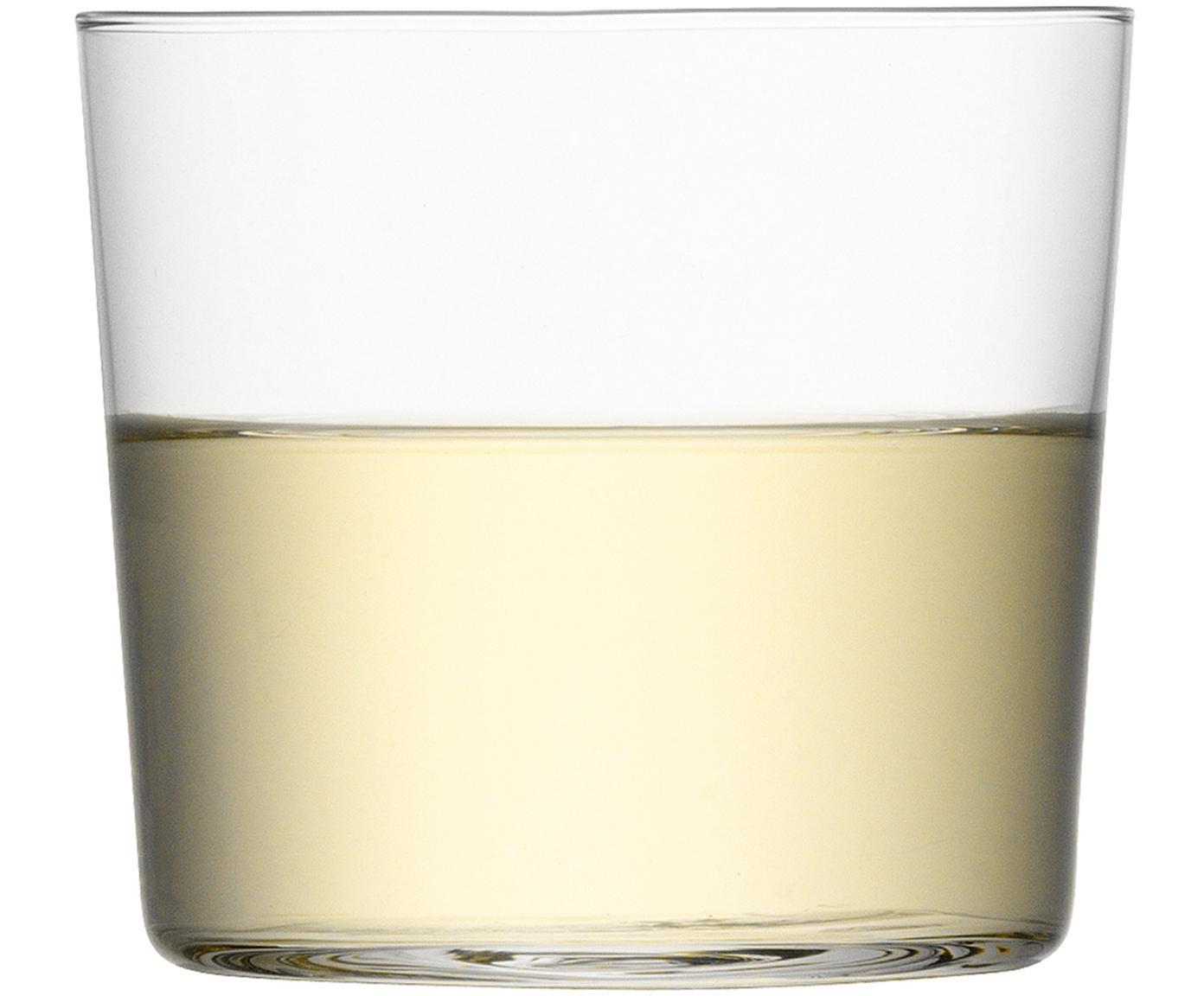 Filigrane Wassergläser Gio aus dünnem Glas, 6er-Set, Glas, Transparent, Ø 8 x H 7 cm