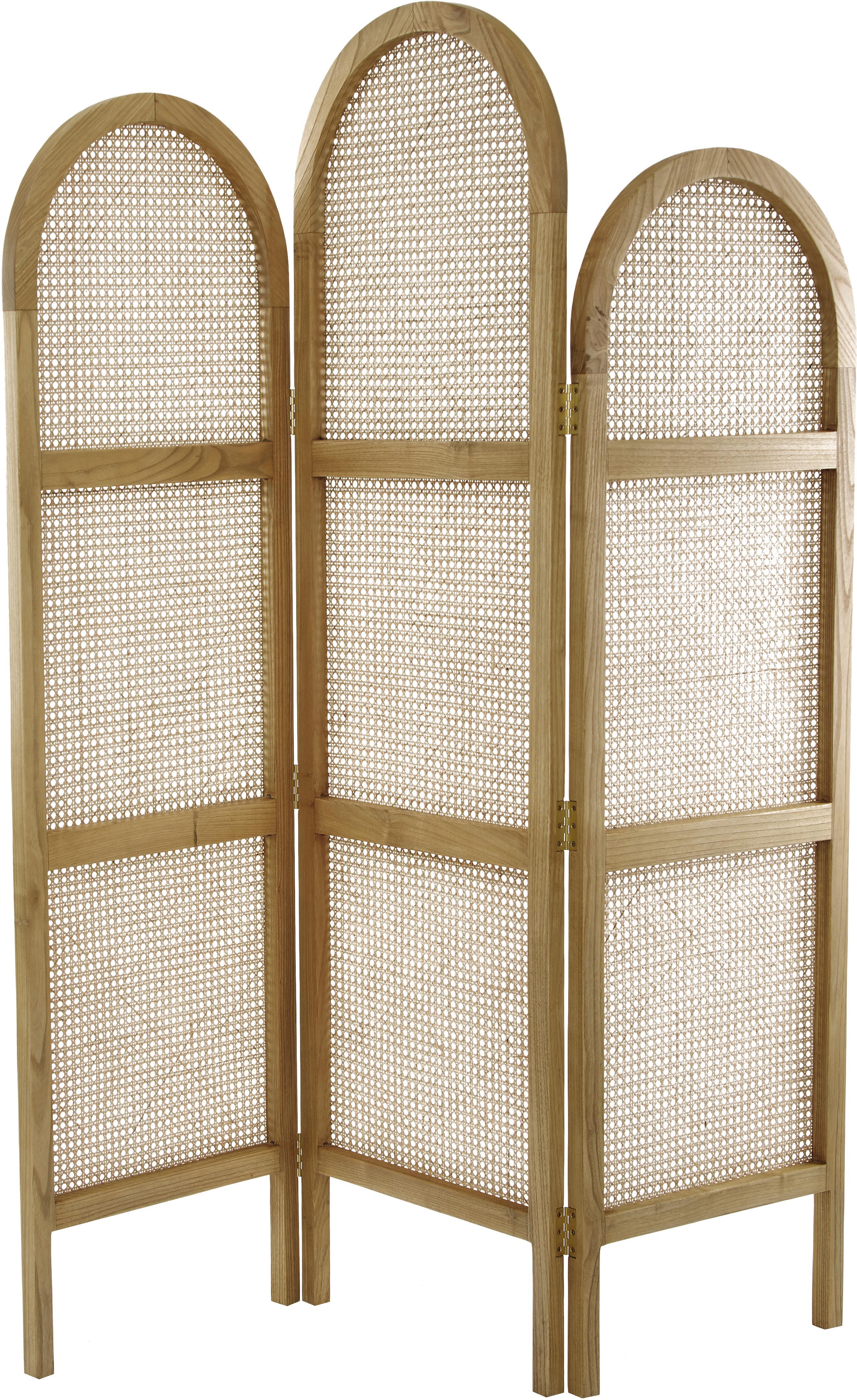 Paravento Webbing, Cornice: legno Sungkai, Legno di Sungkai, Larg. 150 x Alt. 180 cm